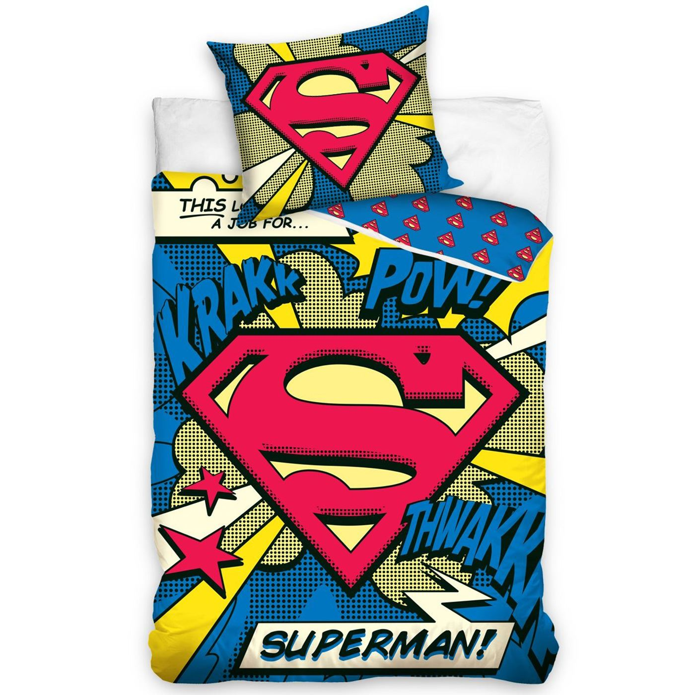 DC COMICS BATMAN & SUPERMAN DUVET COVER AND PILLOWCASE ...