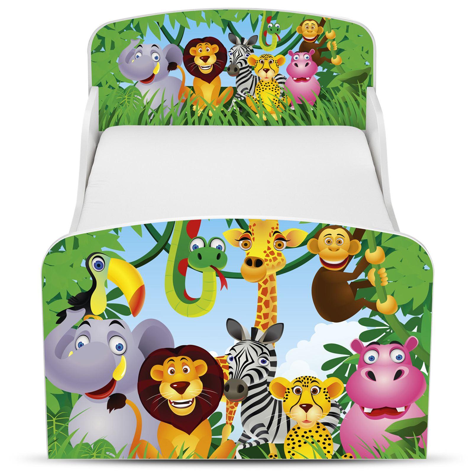 Toddler Bed Mdf Kids Boys Girls Junior Bedroom Mattress