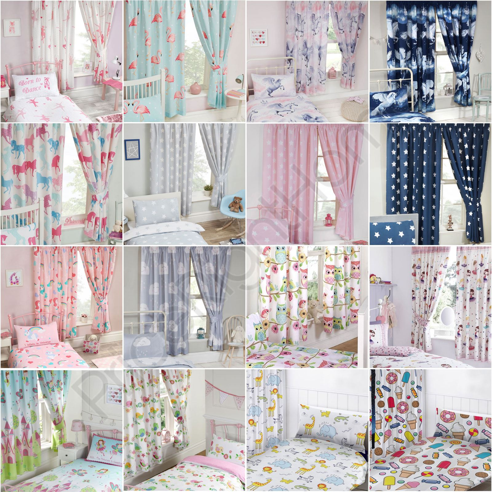 GIRLS BEDROOM CURTAINS 66\