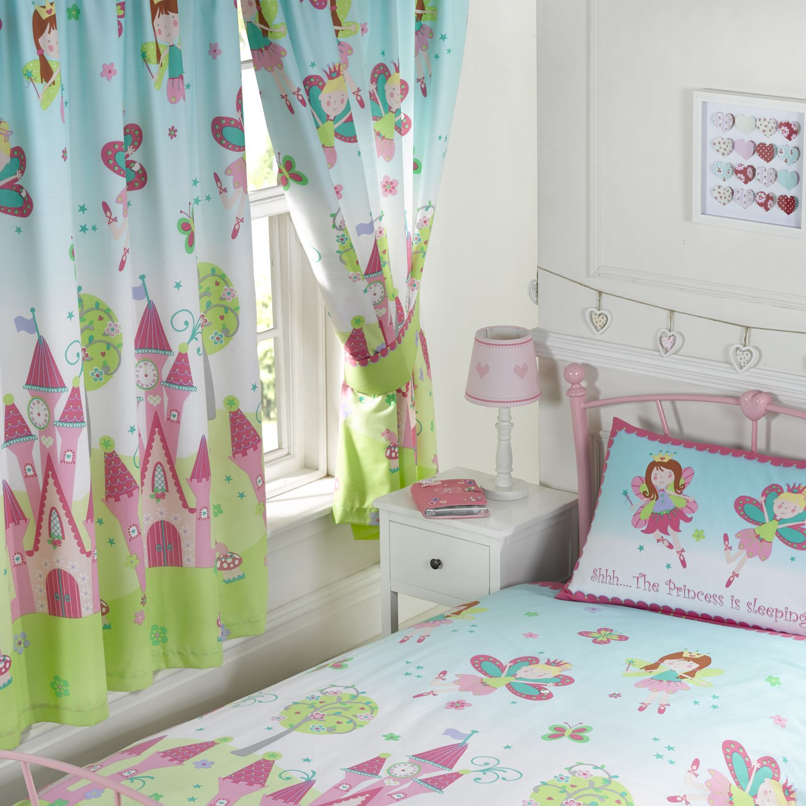 Princess is sleeping bedroom bedding and curtains for Curtain designs for girls bedroom