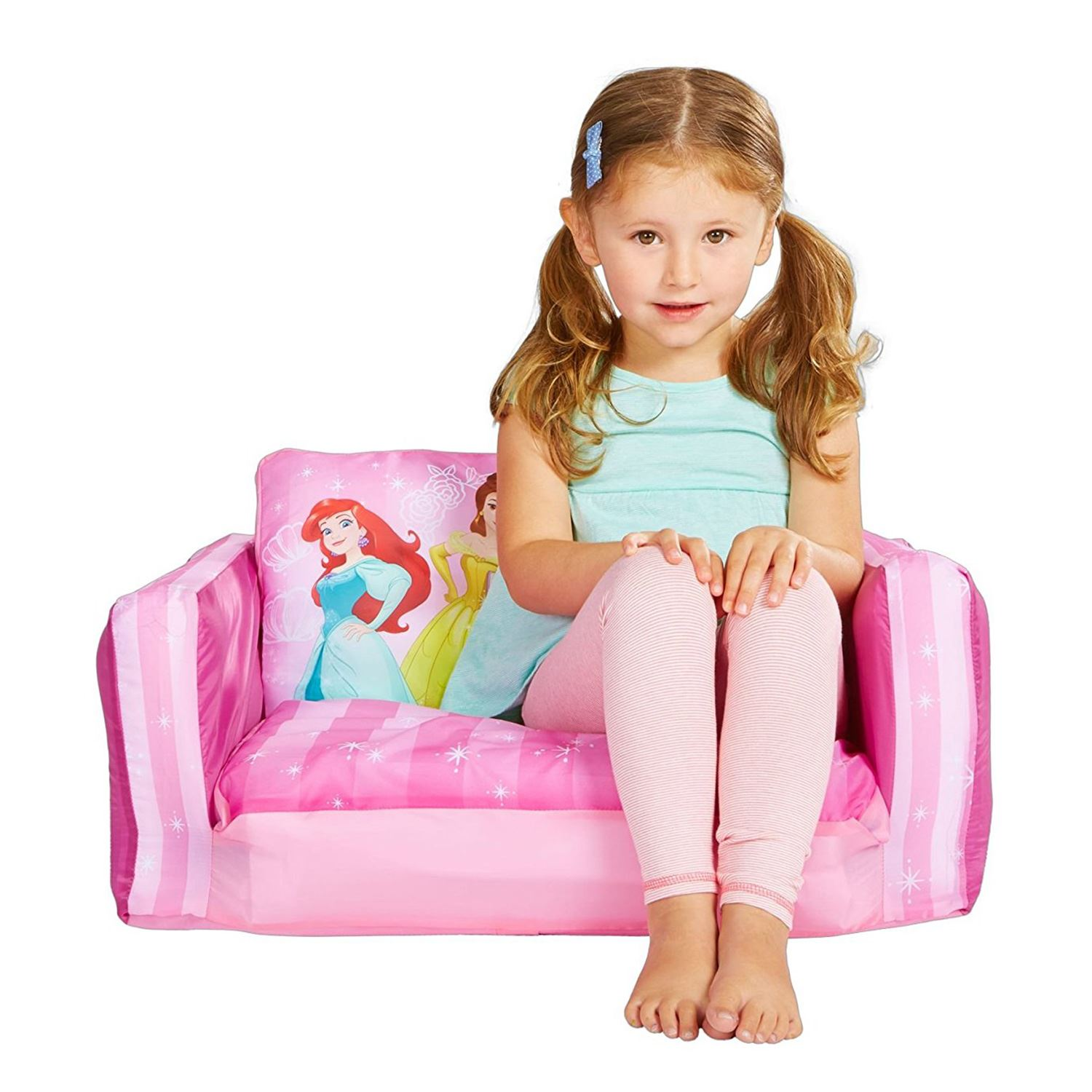 offiziell disney prinzessin sofa zum ausklappen pink neu entwurf belle ariel ebay. Black Bedroom Furniture Sets. Home Design Ideas