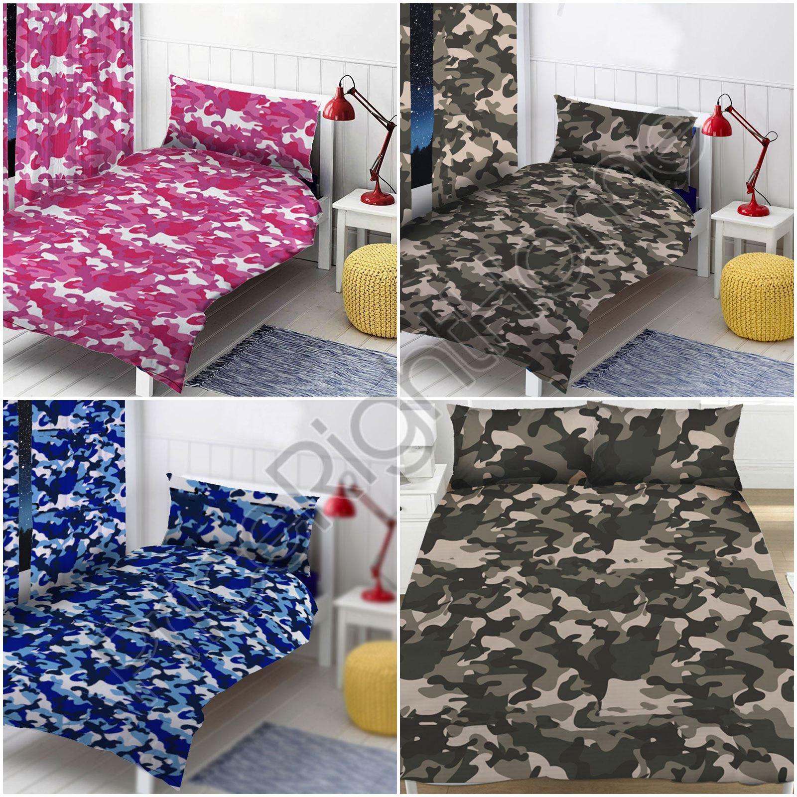 Camouflage Gris Bleu Rose Simple Amp Double Housse De