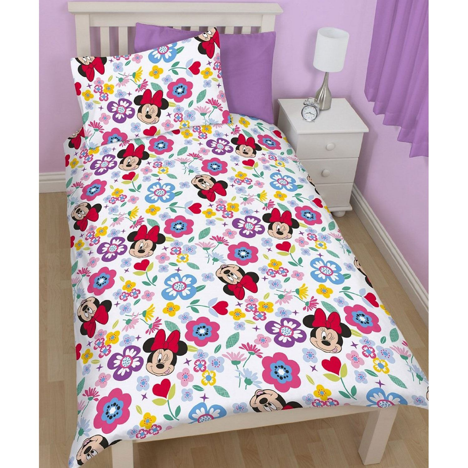 MINNIE-MOUSE-DUVET-COVERS-KIDS-GIRLS-BEDDING-SINGLE-DOUBLE-JUNIOR thumbnail 28