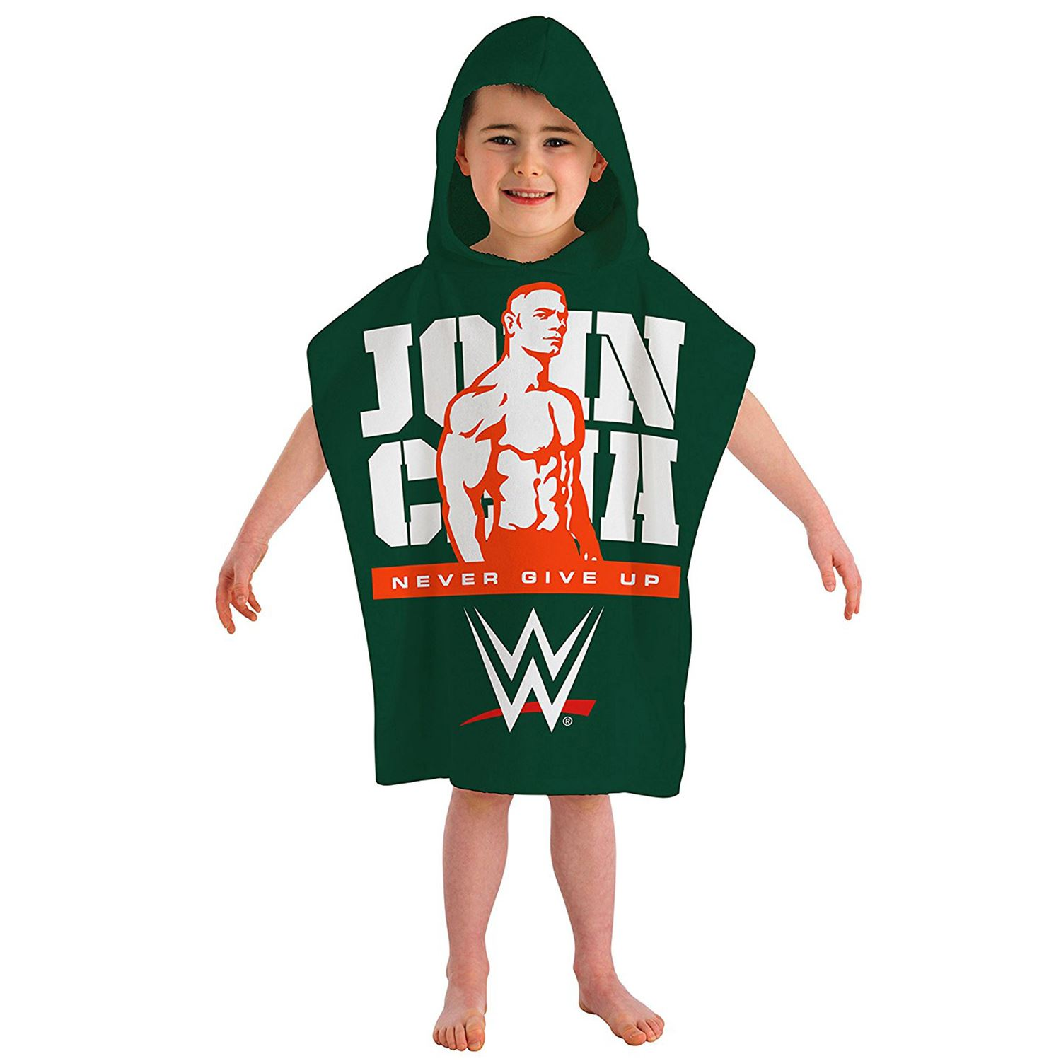 wwe john cena kapuzen poncho handtuch strand kinder jungen badezimmer ebay. Black Bedroom Furniture Sets. Home Design Ideas