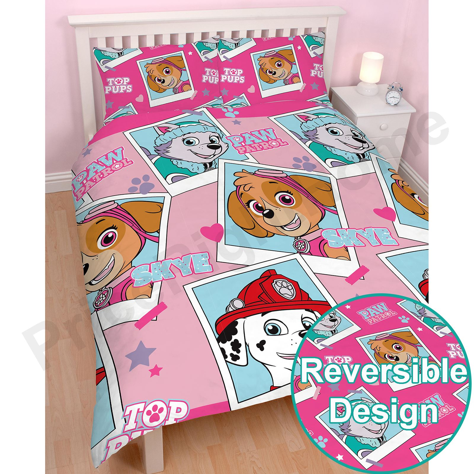 PAW PATROL OFFICIAL DUVET COVER SETS VARIOUS DESIGNS