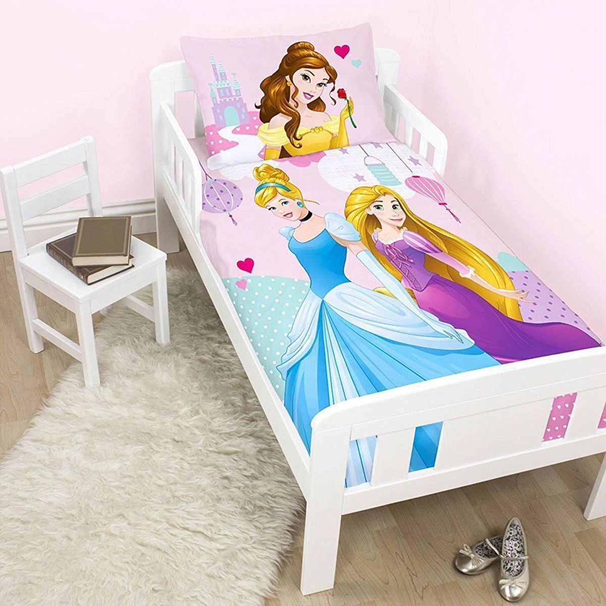 disney princess junior couverture duvet de lit b b new. Black Bedroom Furniture Sets. Home Design Ideas