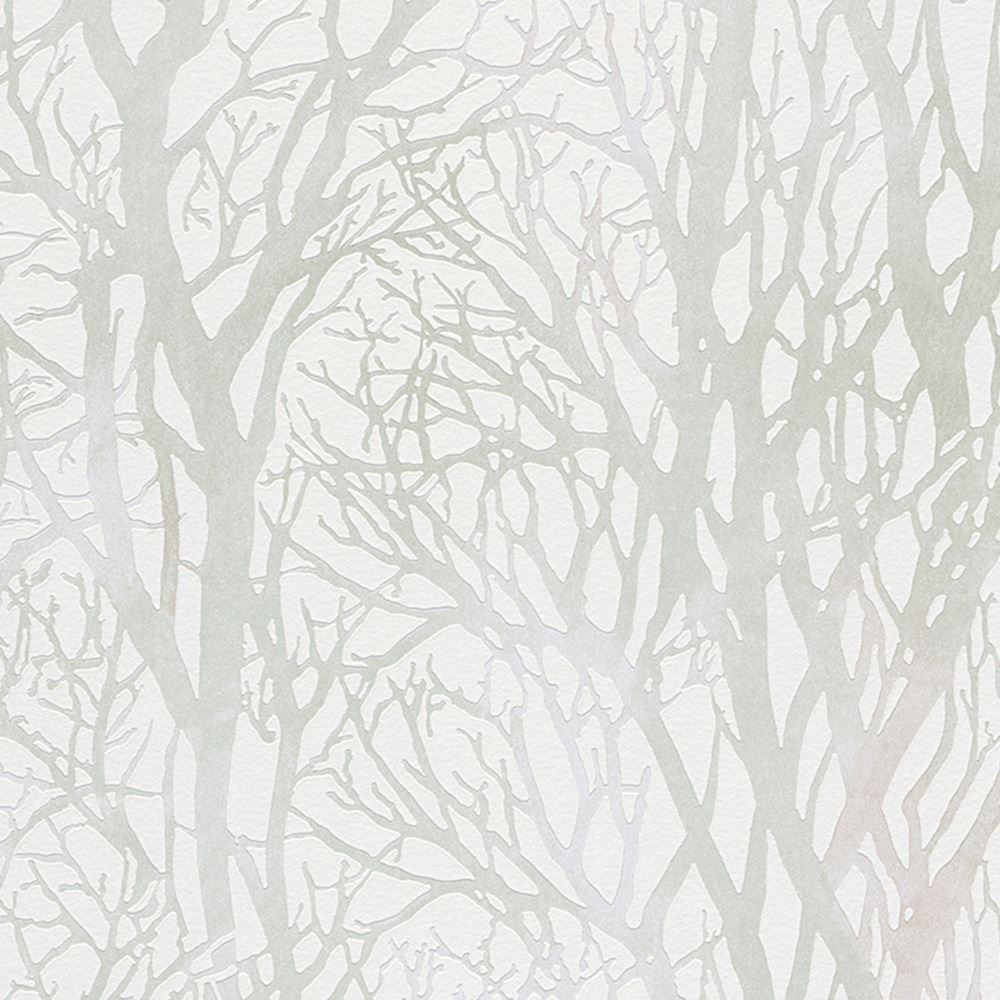 As creation tree branches wallpaper feature wall grey for Silver wallpaper for walls