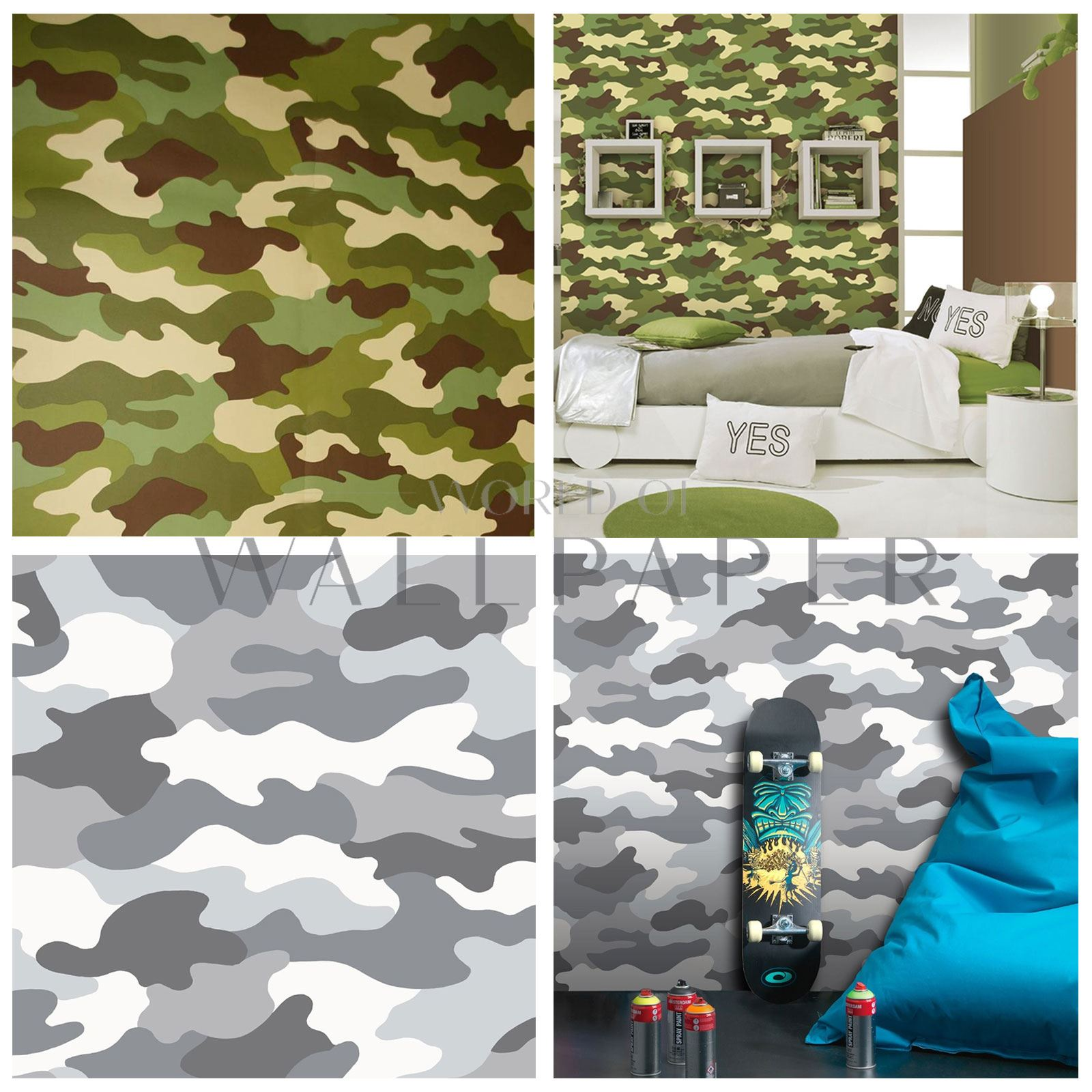 Camouflage Camo Army Wallpaper Kids Boys Room Decor Ebay