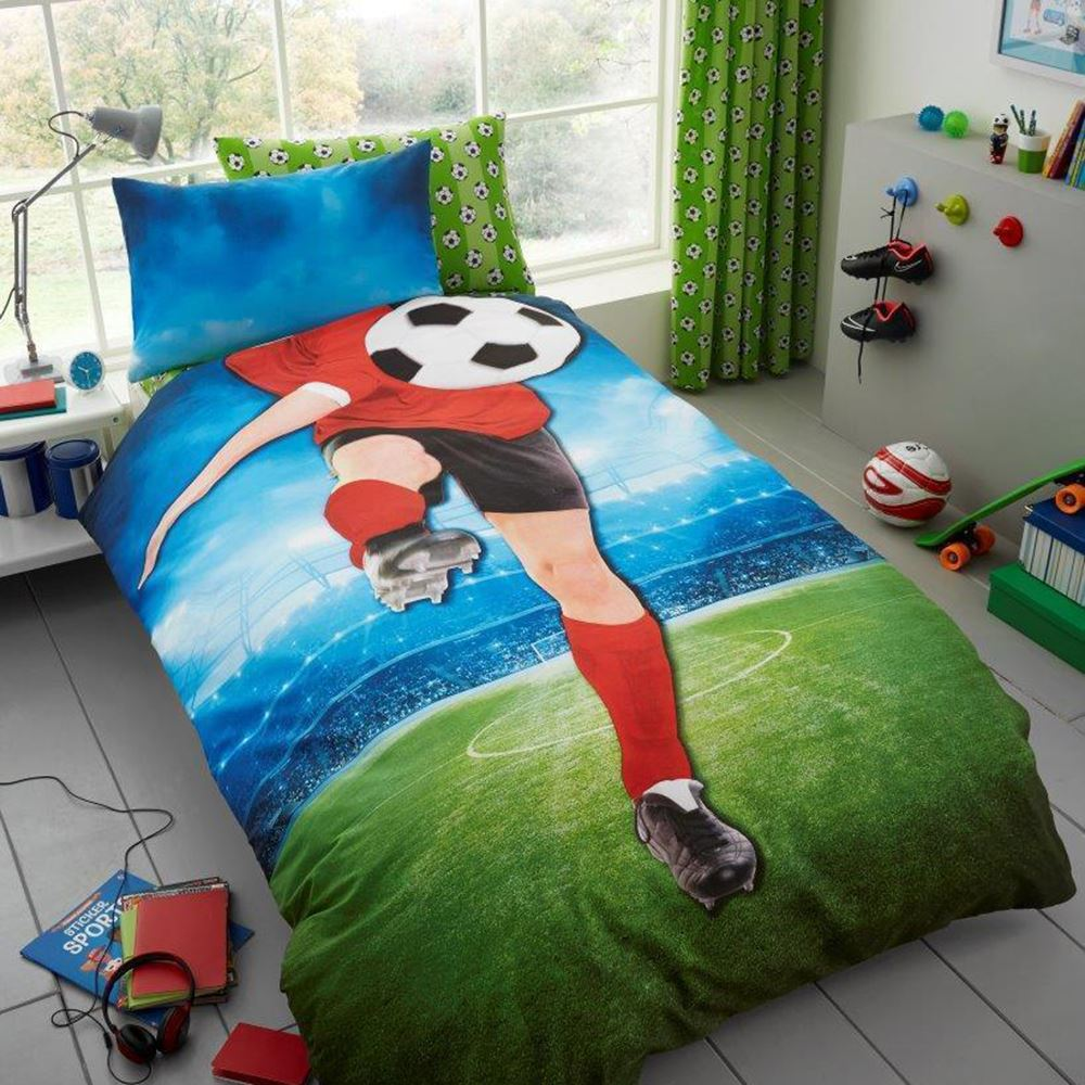 Enfants-Garcons-Housse-de-Couette-Ensembles-Football-Jungle-Camouflage