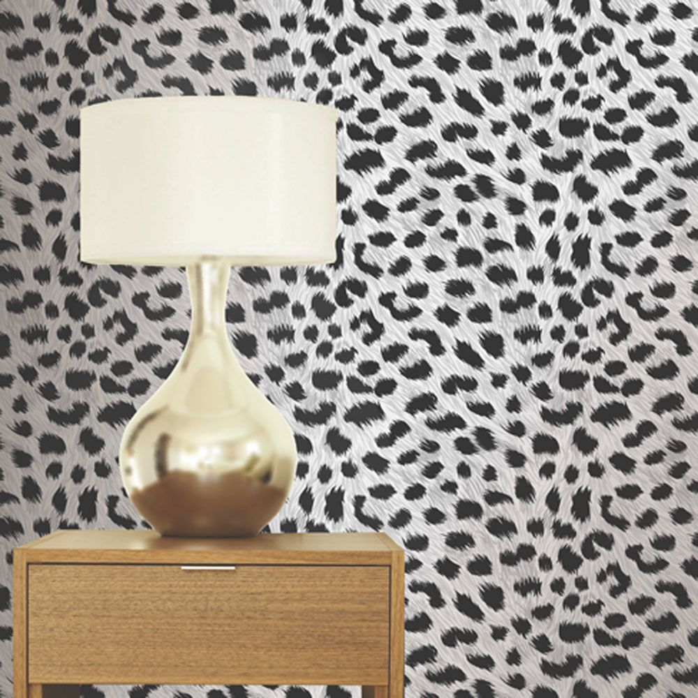 LEOPARD PRINT WALLPAPER U2013 ANIMAL PRINT FINE DECOR PURPLE GOLD BROWN WHITE  LILAC | EBay