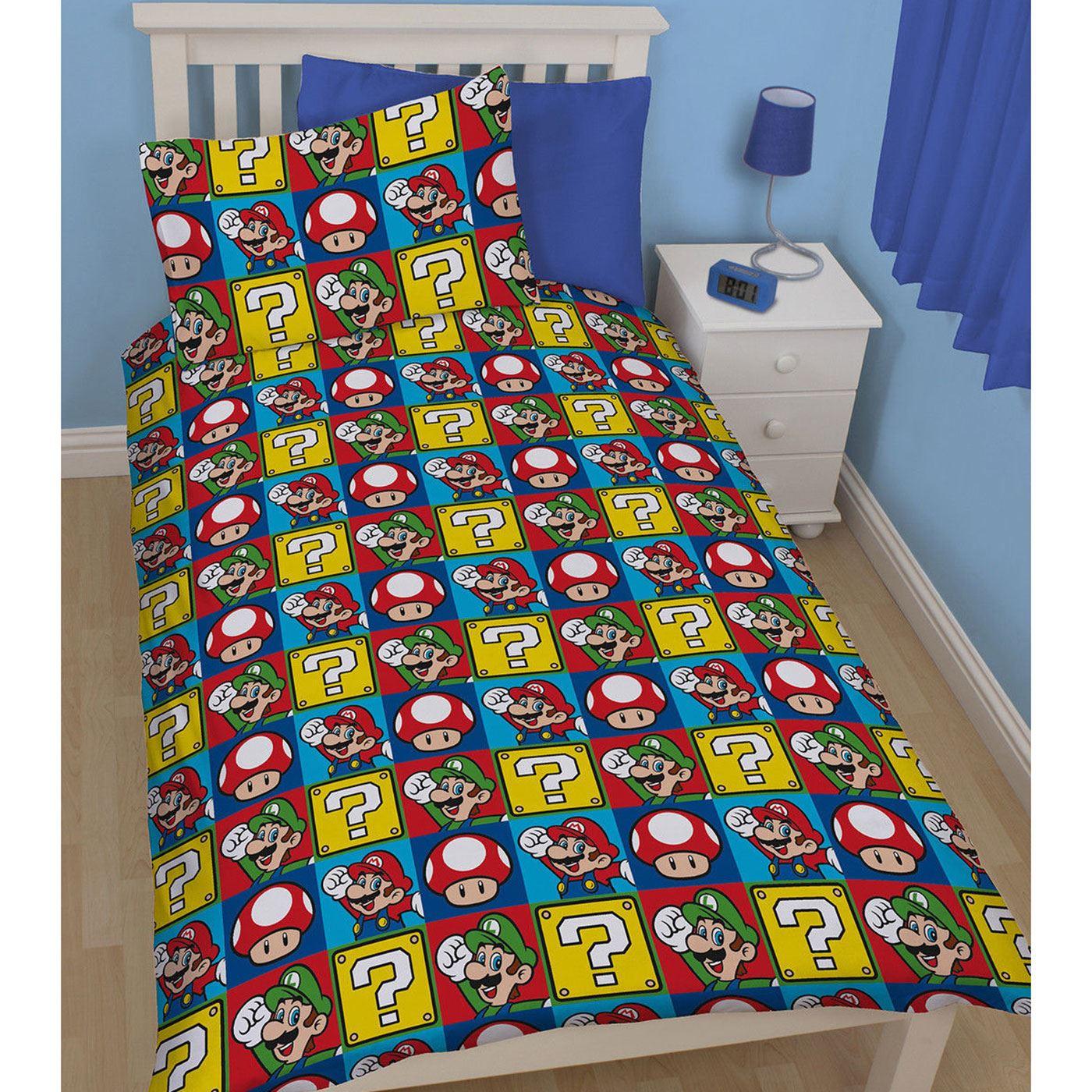 Official Nintendo Super Mario Bedding Duvet Cover Set