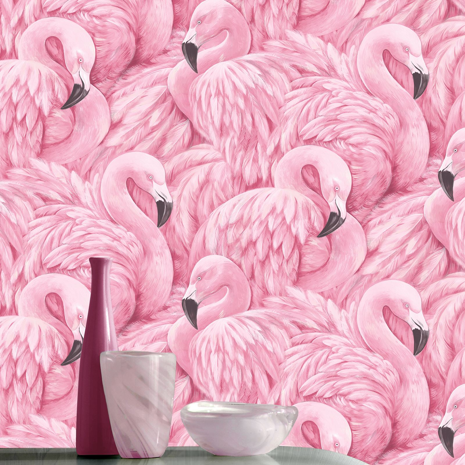 Flamingo Wallpaper Arthouse Vintage Lagoon Holden Lake