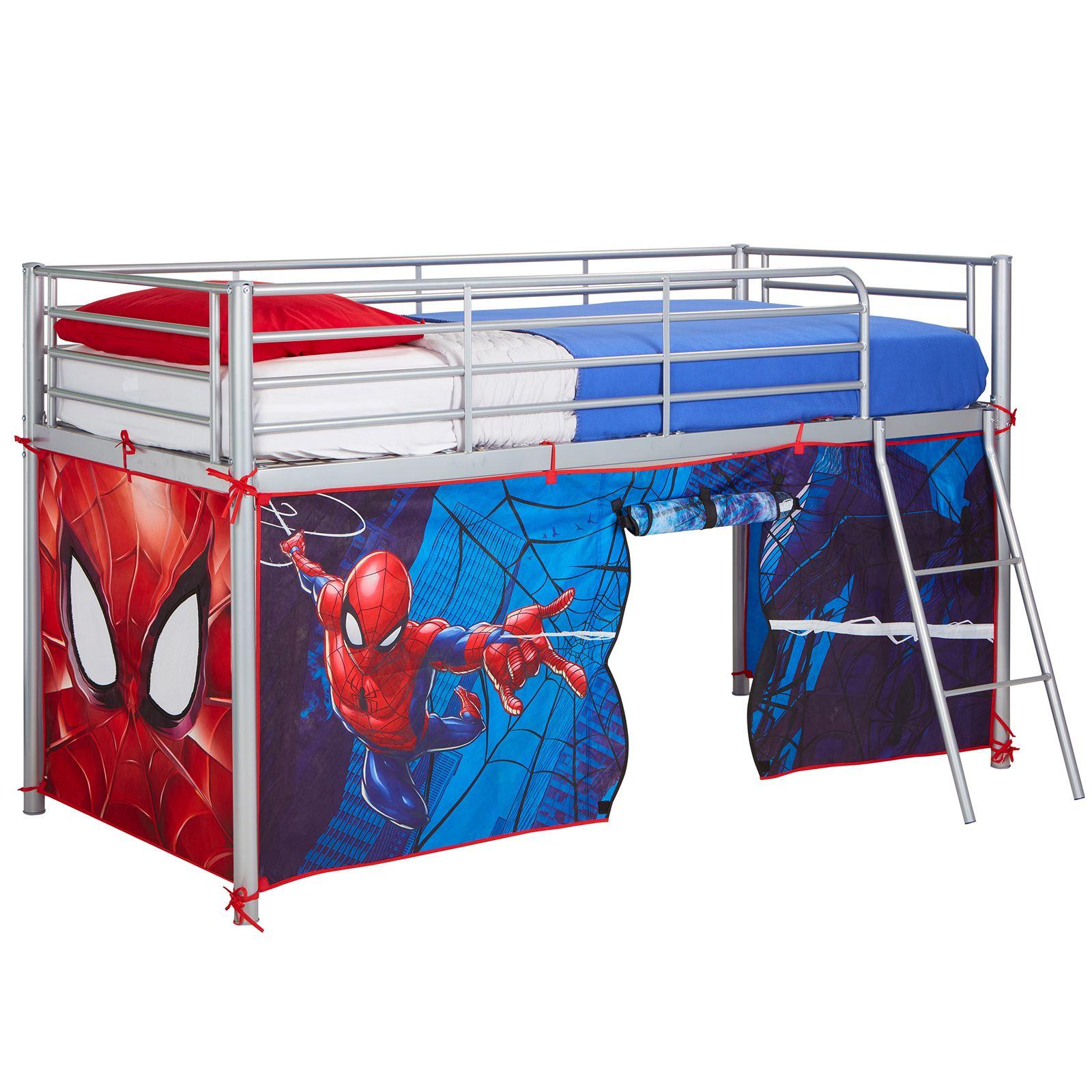 Mid Sleeper Over Bed Amp Bed Tent Kids Boys Bedroom Marvel