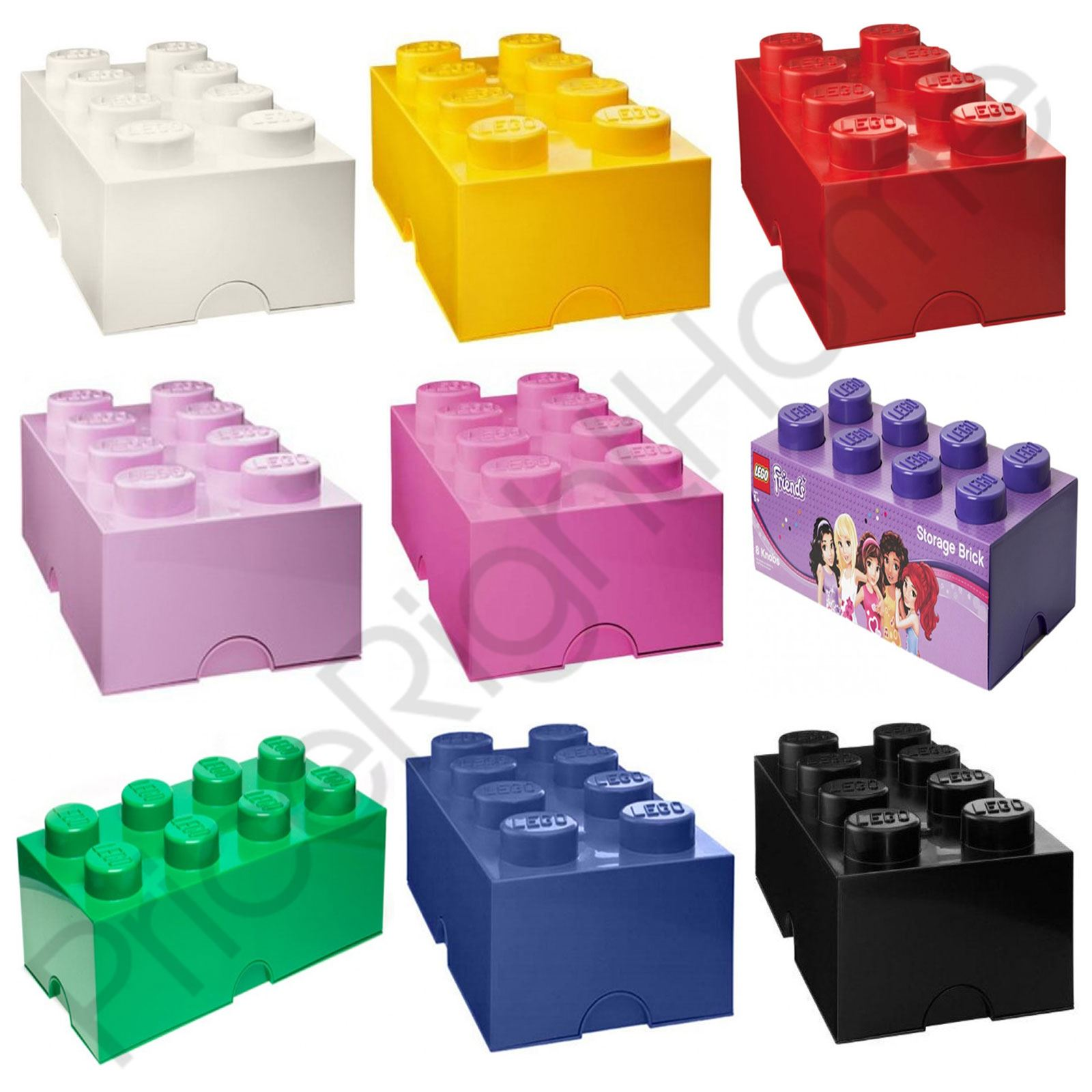 l go stockage brique boite 8 boutons enfants chambre. Black Bedroom Furniture Sets. Home Design Ideas