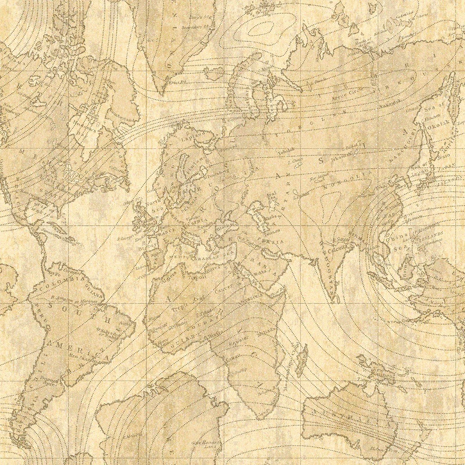 NAVIGATOR VINTAGE MAP & GLOBETROTTER MAP WALLPAPER ARTHOUSE HOLDEN ...