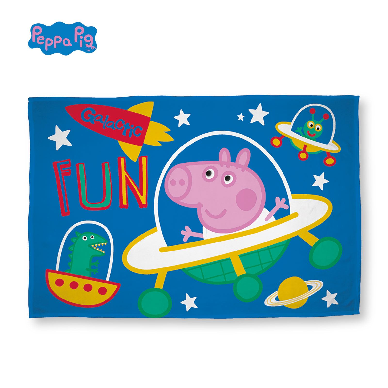 Peppa Pig George Planets Single Duvet Cover Cushion