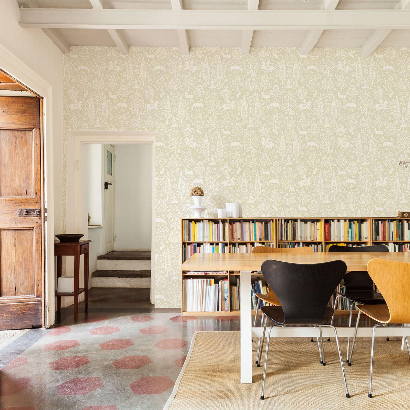Umbrella Stand Homebase: Duck Egg Blue Wallpaper Living Room