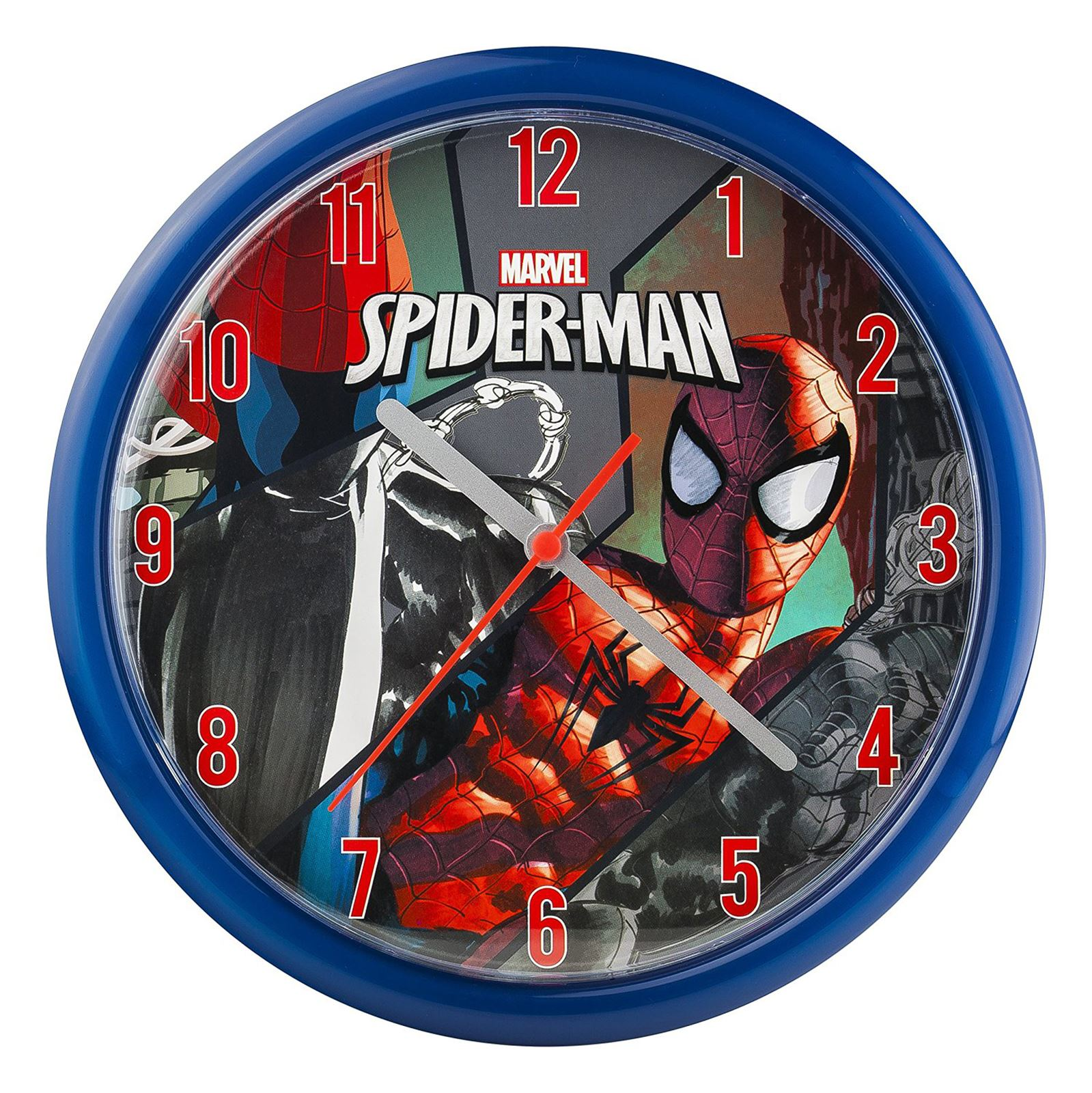 Childrens official character wall clocks spiderman avengers childrens official character wall clocks spiderman avengers batman more amipublicfo Choice Image
