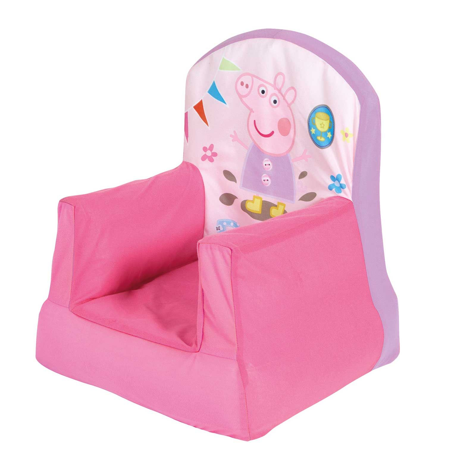Peppa Pig Bedroom Furniture Official Disney And Character Childrens Cosy Chairs Inflatable