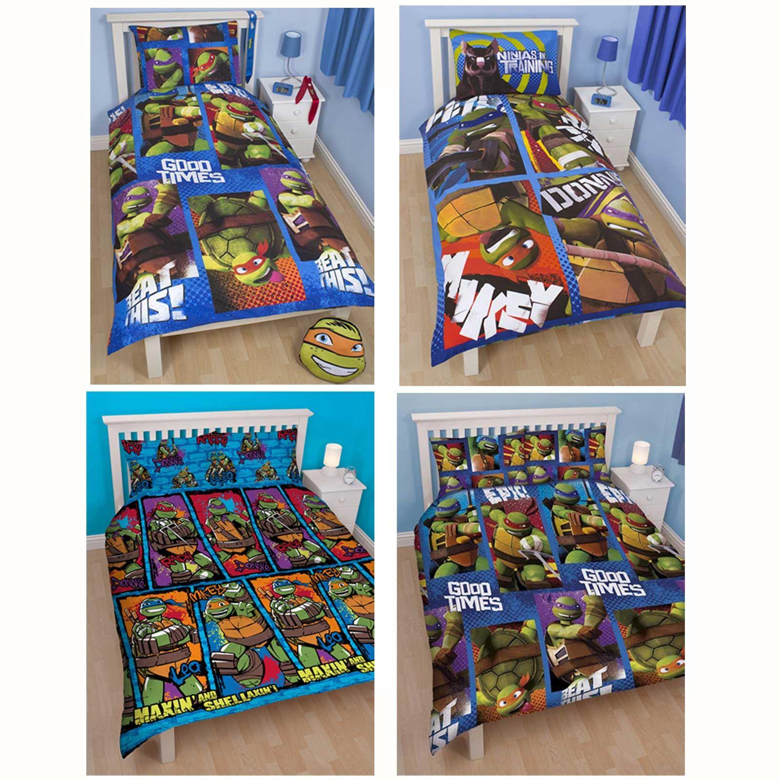 Teenage Mutant Ninja Turtles Duvet Covers Single Bedding Sets Boys