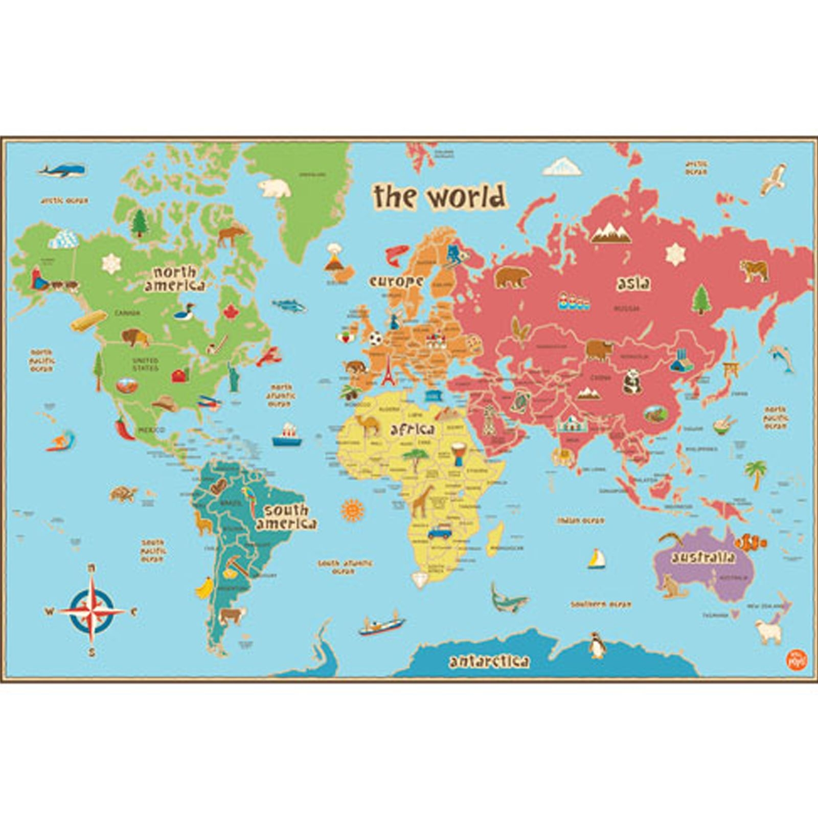 Map Of South Africa For Kids.Details About World Kids Map Laminated Dry Erase Includes Pen Kids Bedroom Playroom