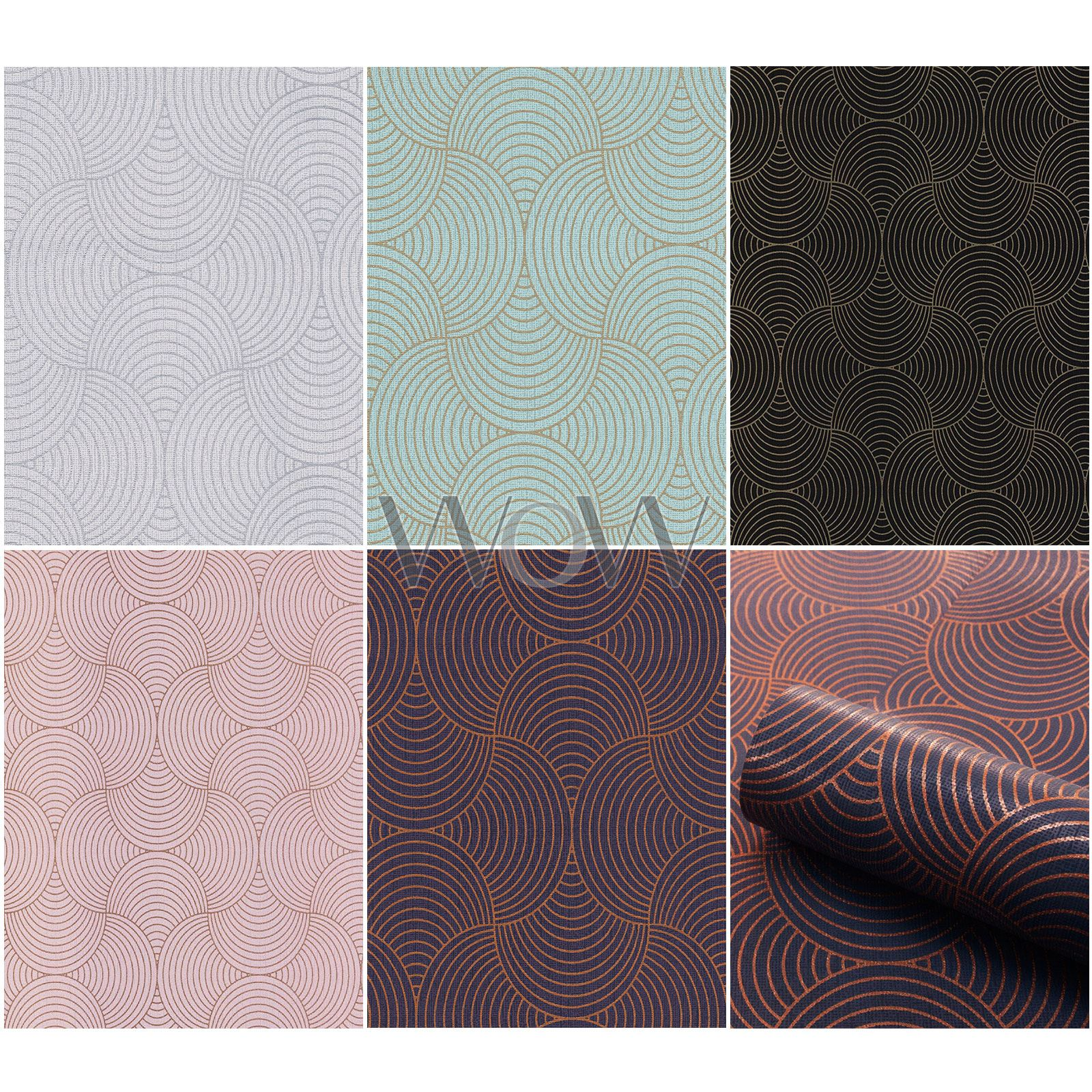 Belgravia Eternal Papier Peint Géométrique Art Déco Metalique Texturé