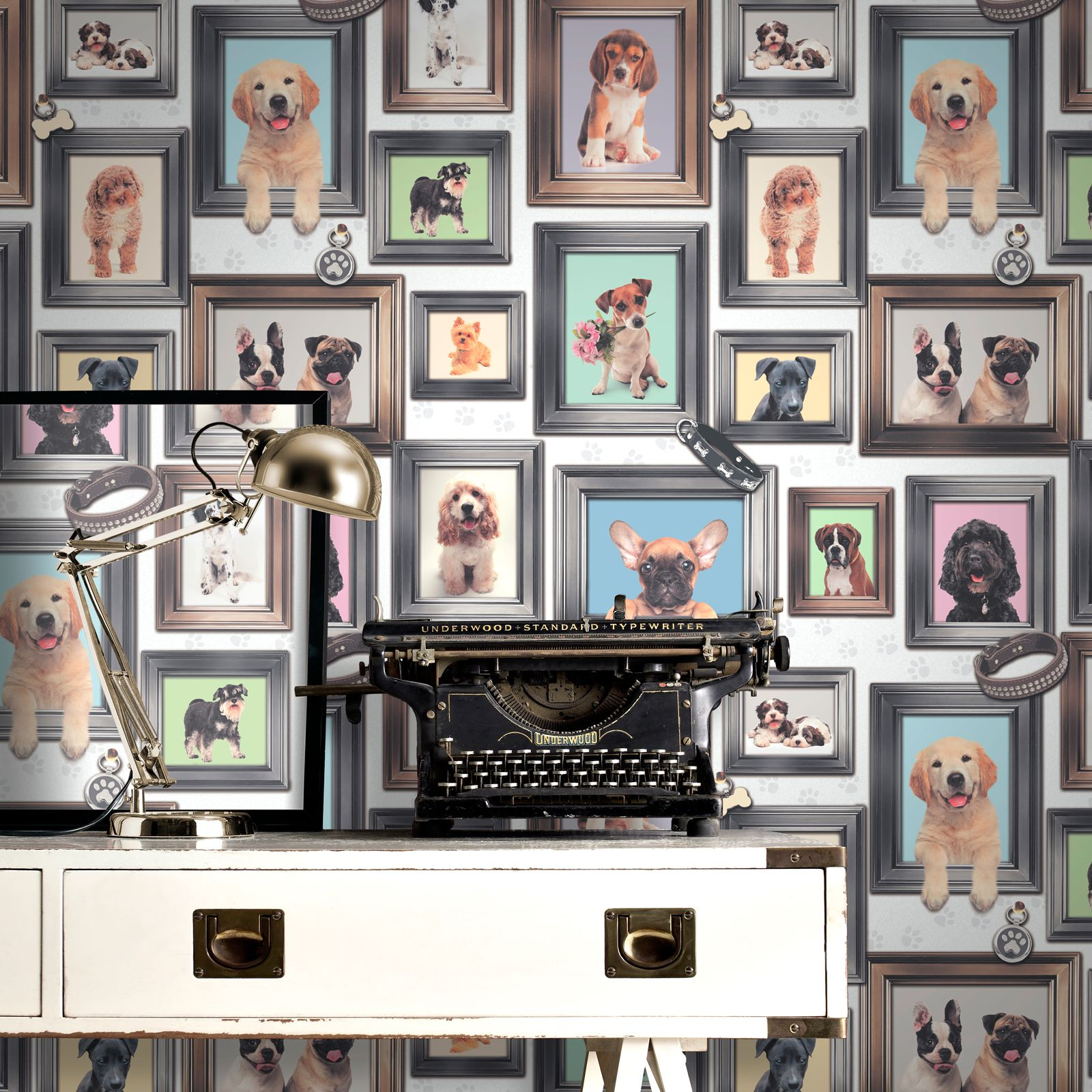 Puppy Wallpaper For Bedroom Puppy Love Wallpaper Rasch 272703 Puppies Girls Bedroom Ebay