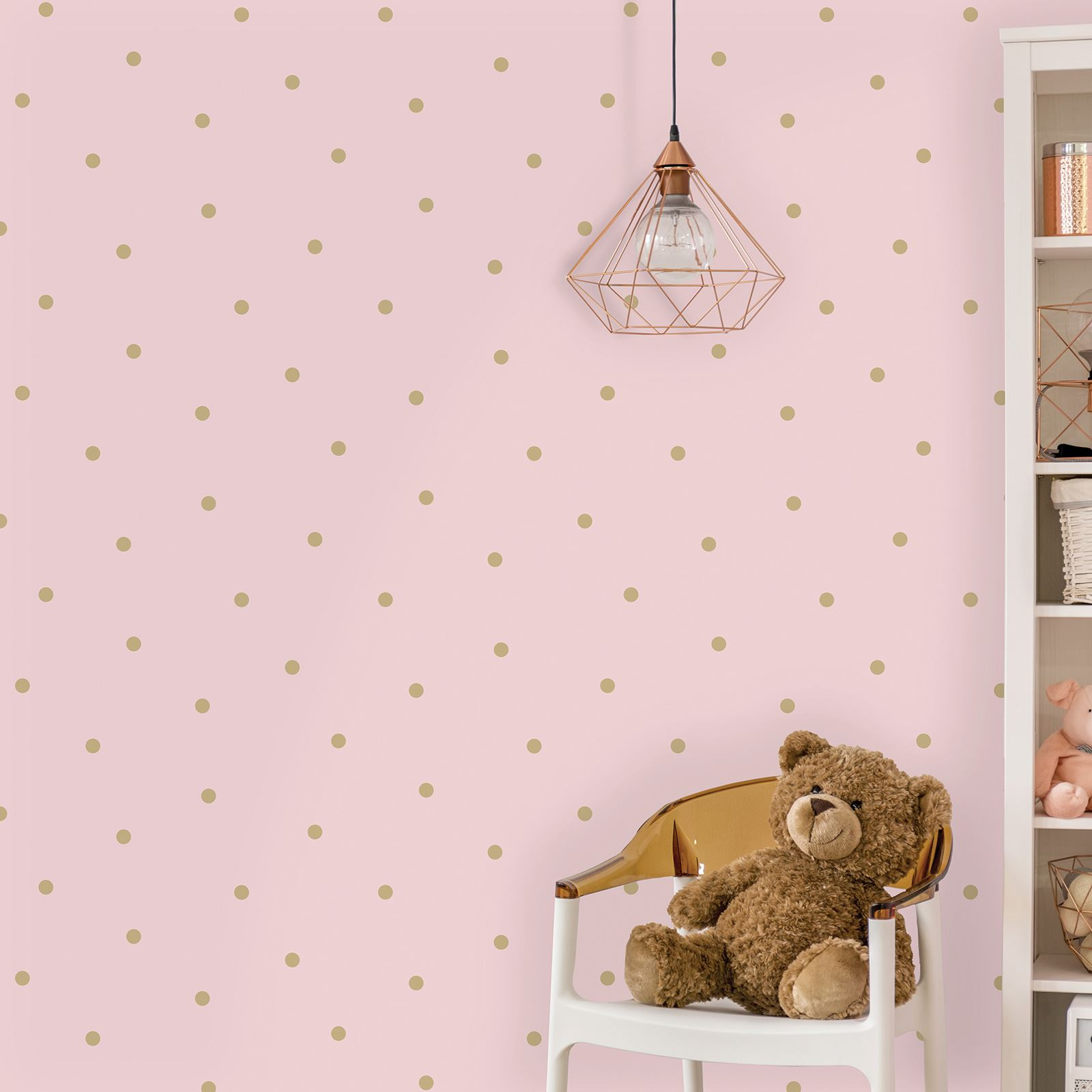 Kids Childrens Girls Pink Lilac Wallpaper Unicorn