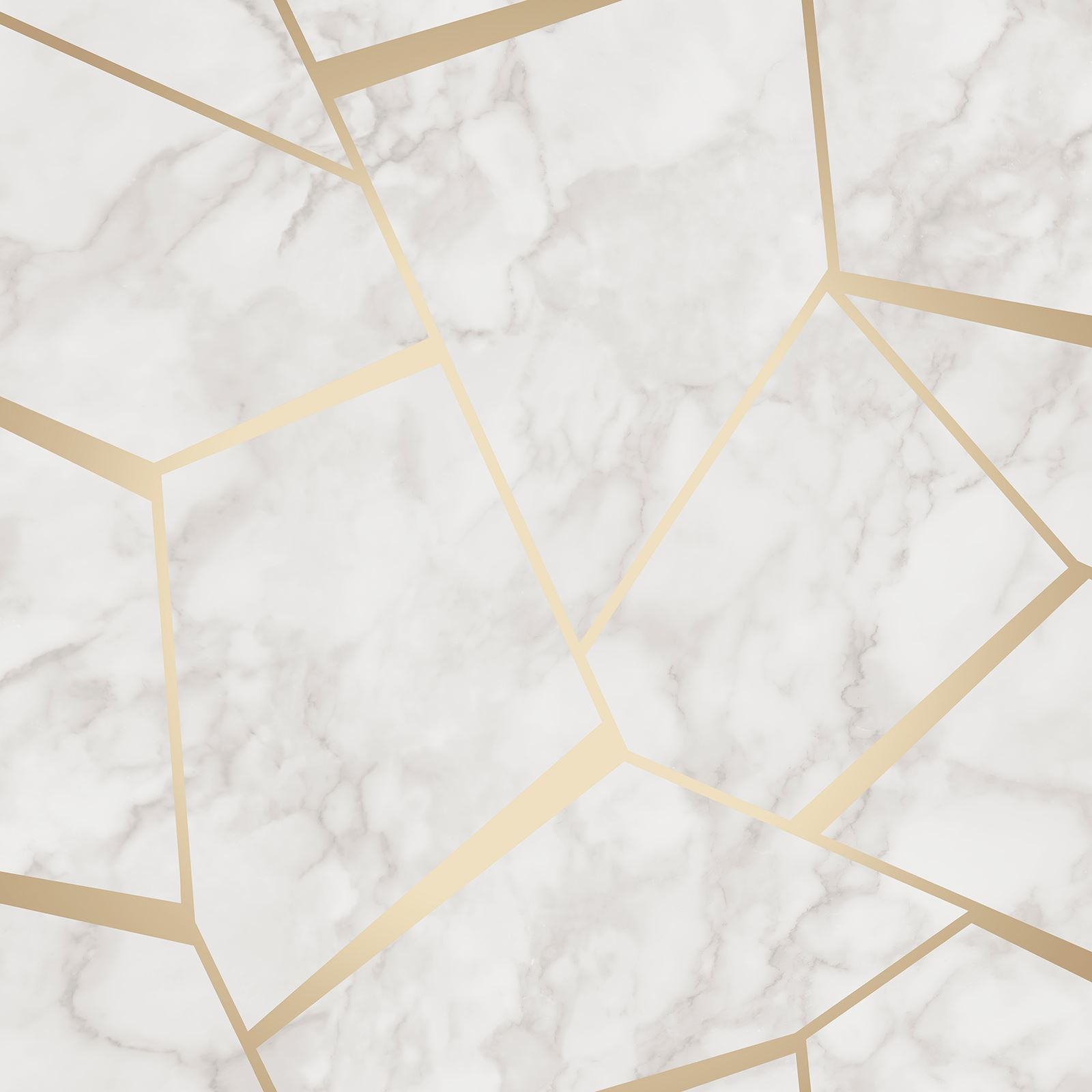 fine decor fractal geometric marble metallic wallpaper