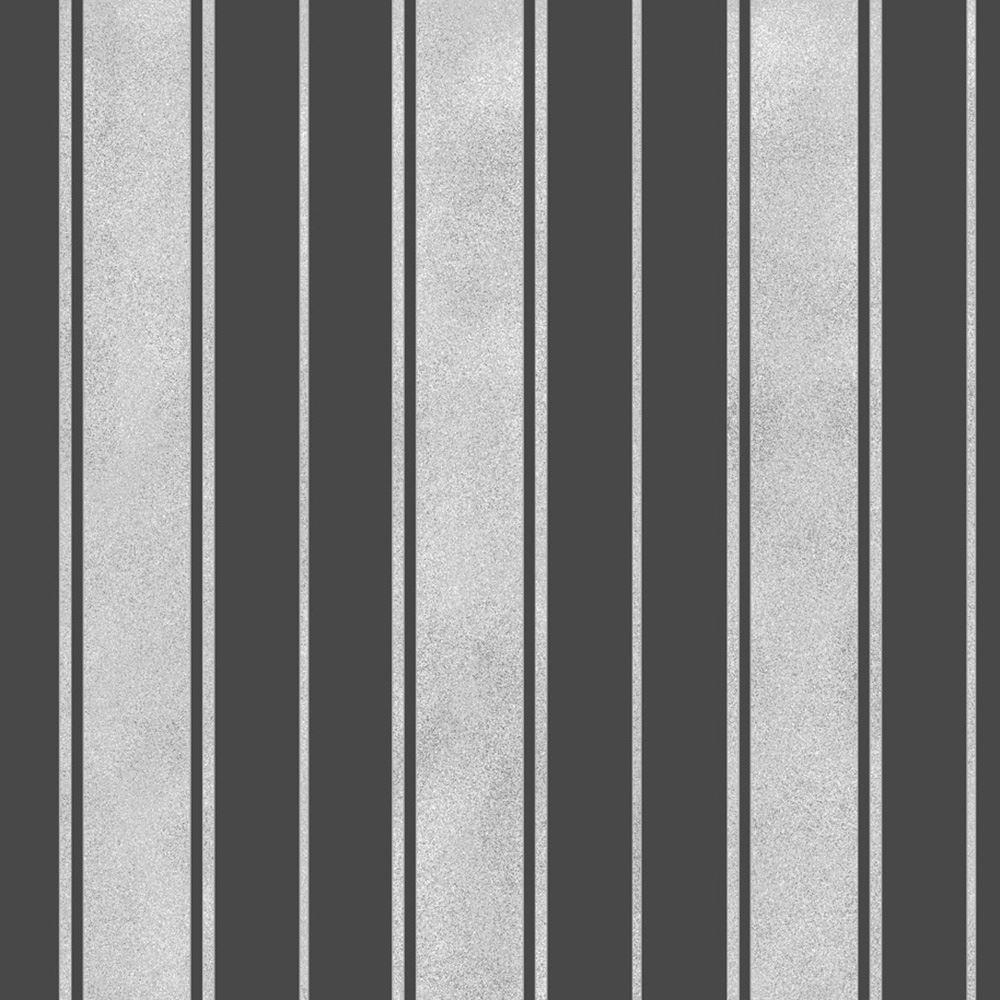 Fine decor wentworth stripe wallpaper black grey cream for Grey and cream wallpaper