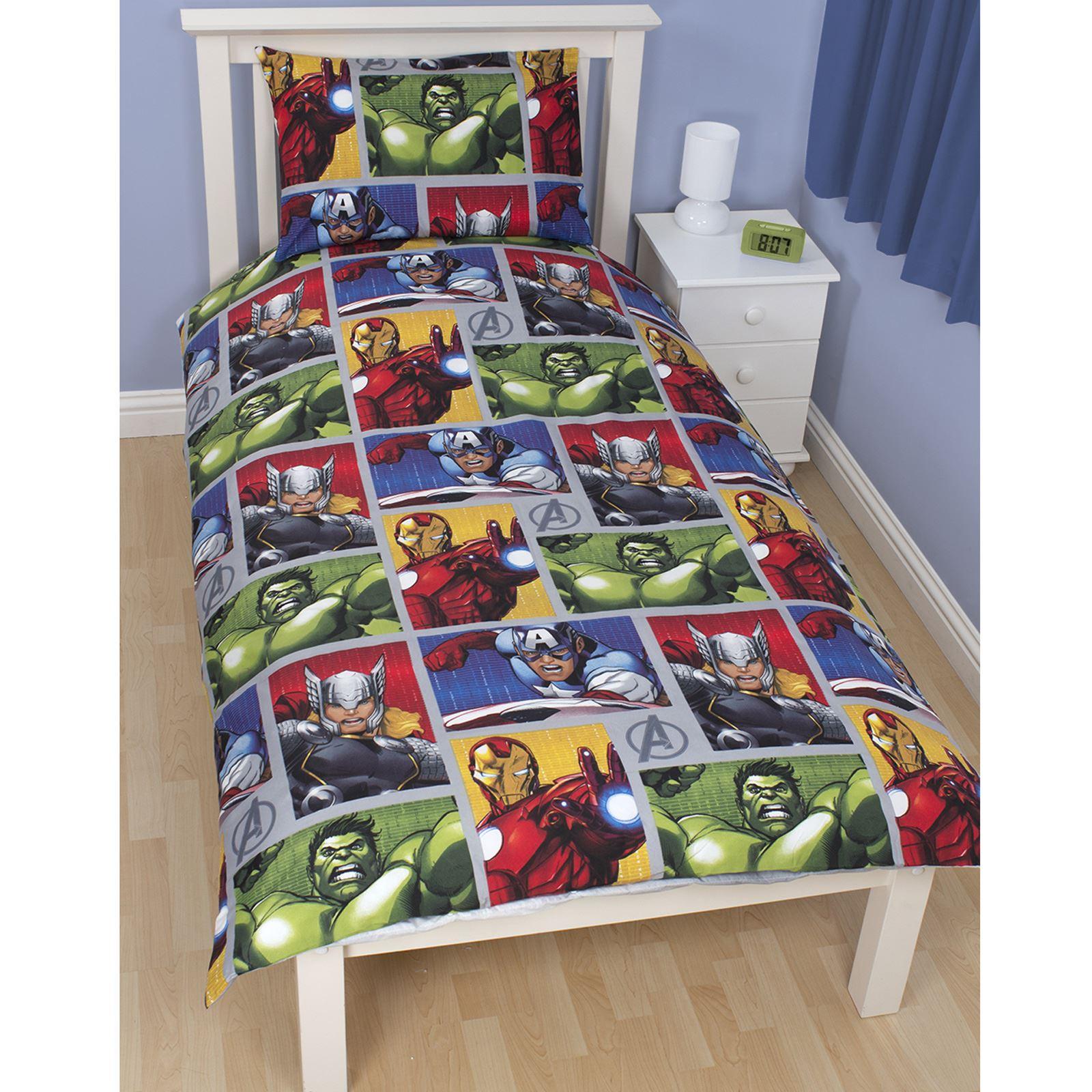 OFFICIAL AVENGERS MARVEL COMICS BEDDING + BEDROOM ACCESSORIES ... : avengers quilt cover australia - Adamdwight.com