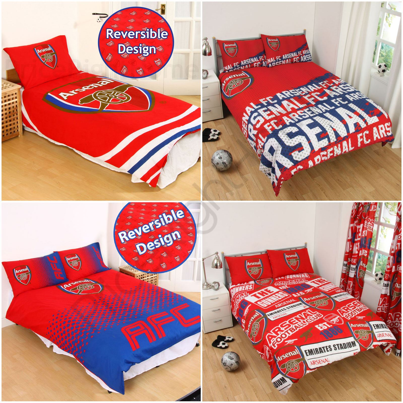Newcastle United Bedroom Wallpaper Bedroom Decor Dark Wood Creative Apartment Bedroom Quirky Bedroom Furniture: ARSENAL FC SINGLE AND DOUBLE DUVET COVER SETS BEDROOM