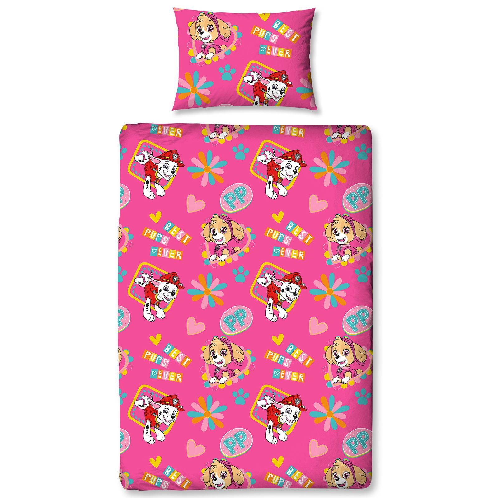 Paw Patrol Forever Single Duvet Cover Set Reversible Kids