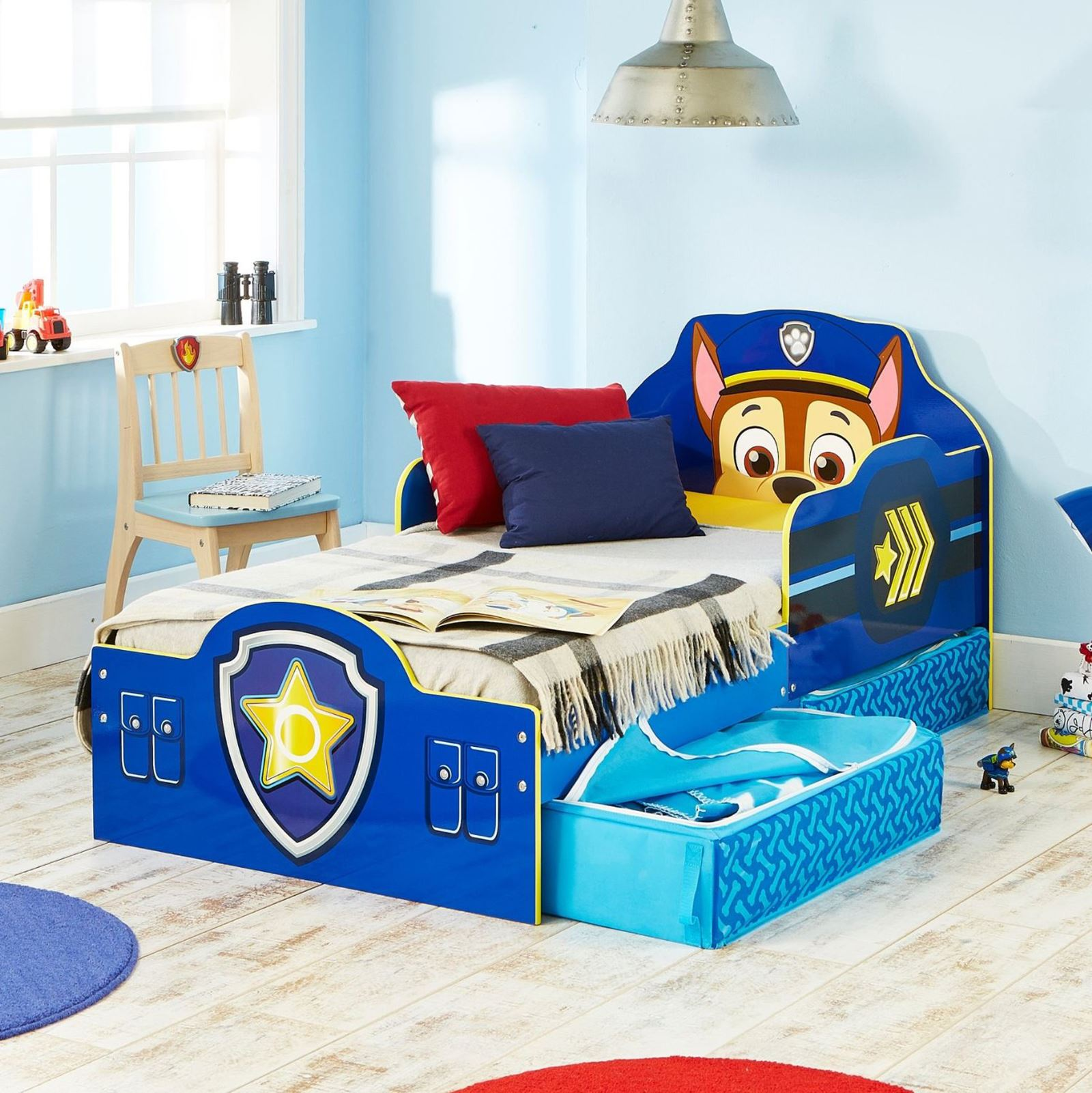 PAW PATROL CHASE TODDLER BED WITH STORAGE PLUS
