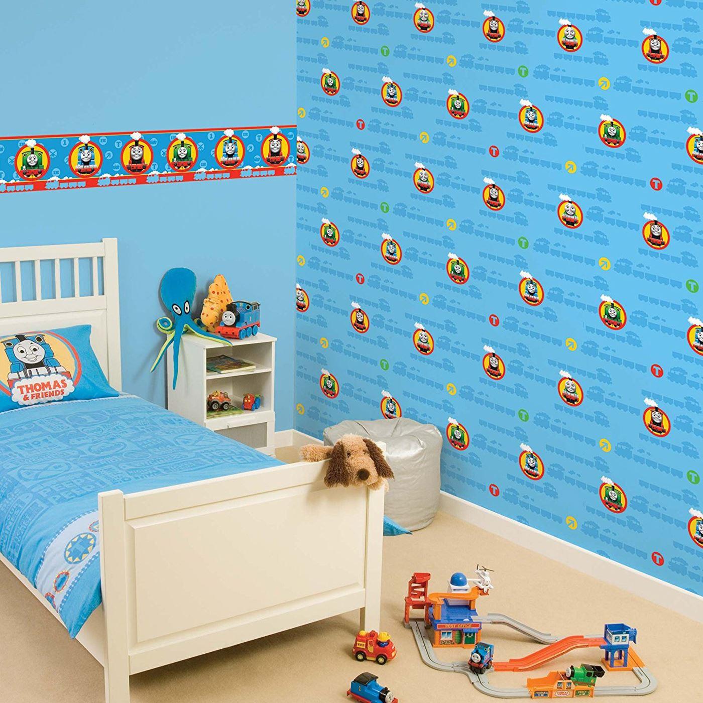 Kids Boys Wallpaper Borders Room Decor Disney Cars Star Wars Spiderman Ebay