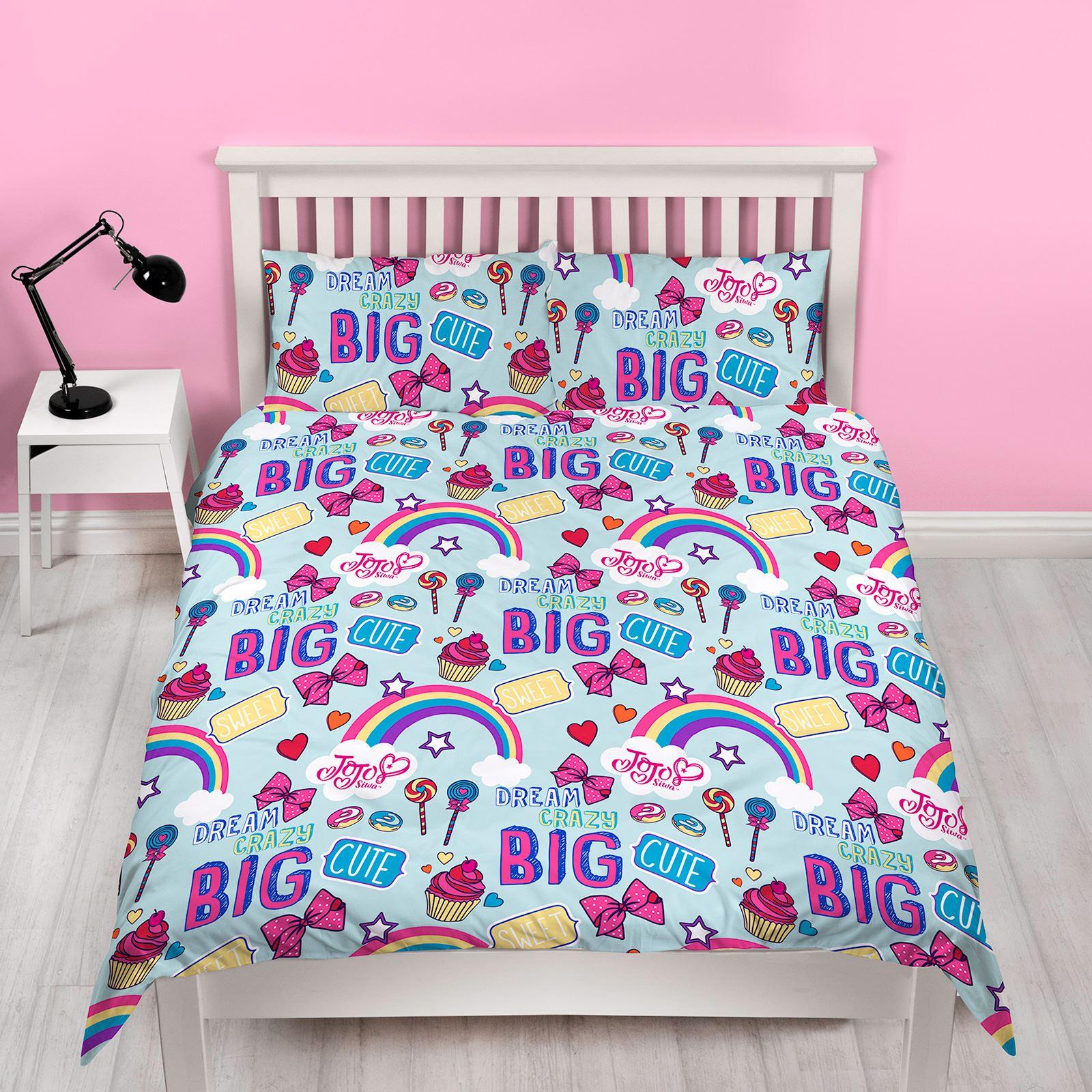 Jojo Siwa Dreams Bedroom Single Double Duvet Cover Set Cushion