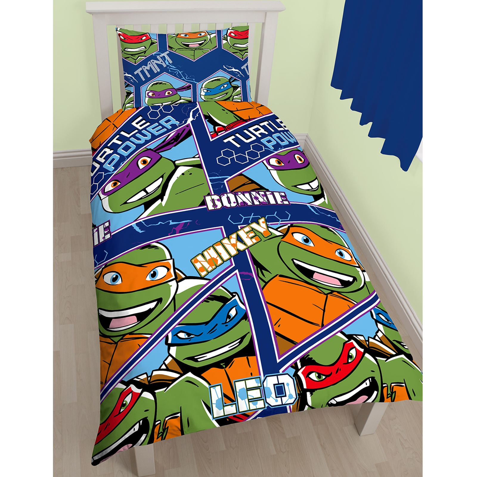 teenage ninja turtles abmessung einzeln doppelbettdecke wahl 54 72 vorh nge ebay. Black Bedroom Furniture Sets. Home Design Ideas