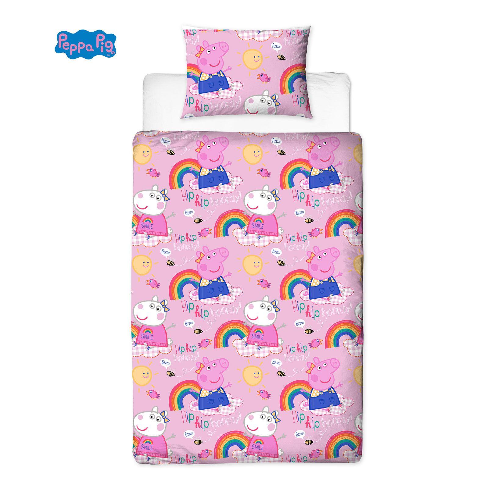Peppa Pig Hooray Bedroom Bathroom Single Duvet Cover