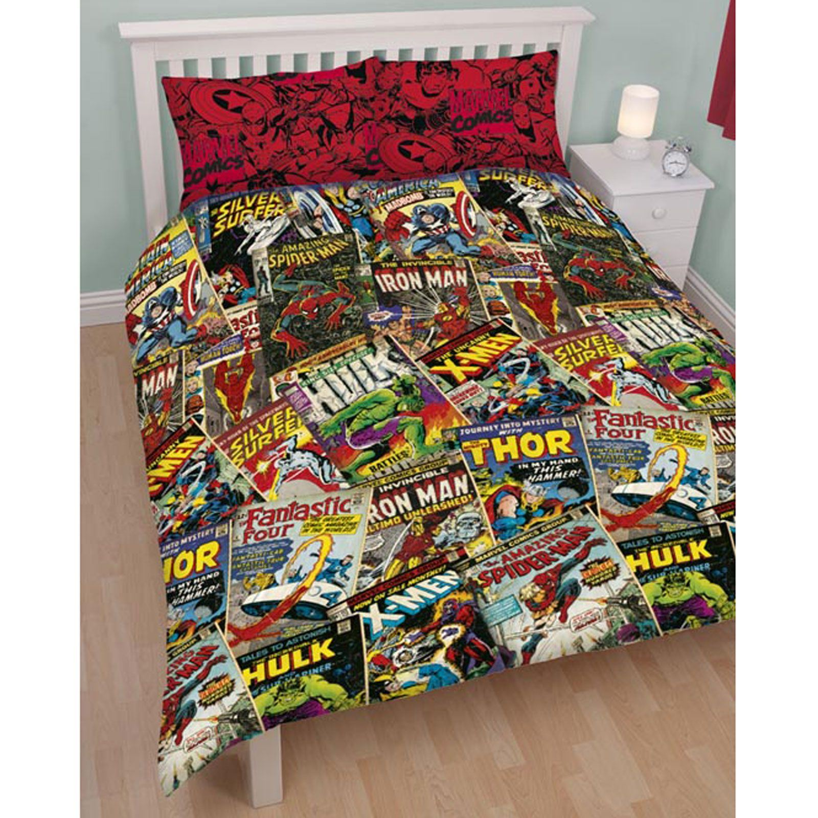 Design Comic Book Bedding kids disney and character double duvet cover sets avengers sets