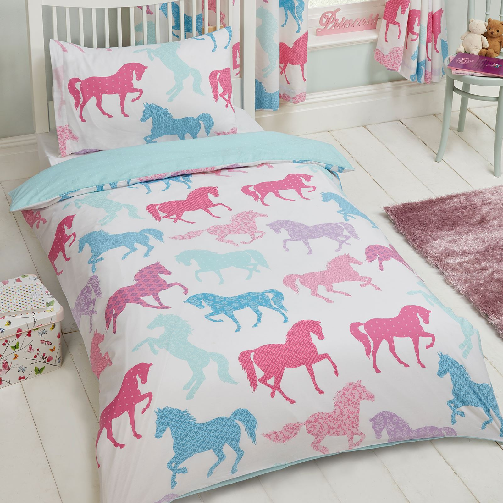 Kids Single Duvet Cover Sets Boys Girls Unicorn Dinosaur