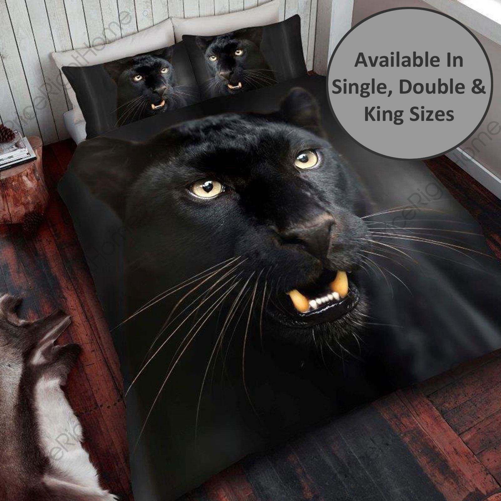 Black Panther Duvet Cover Sets Available In Single Double