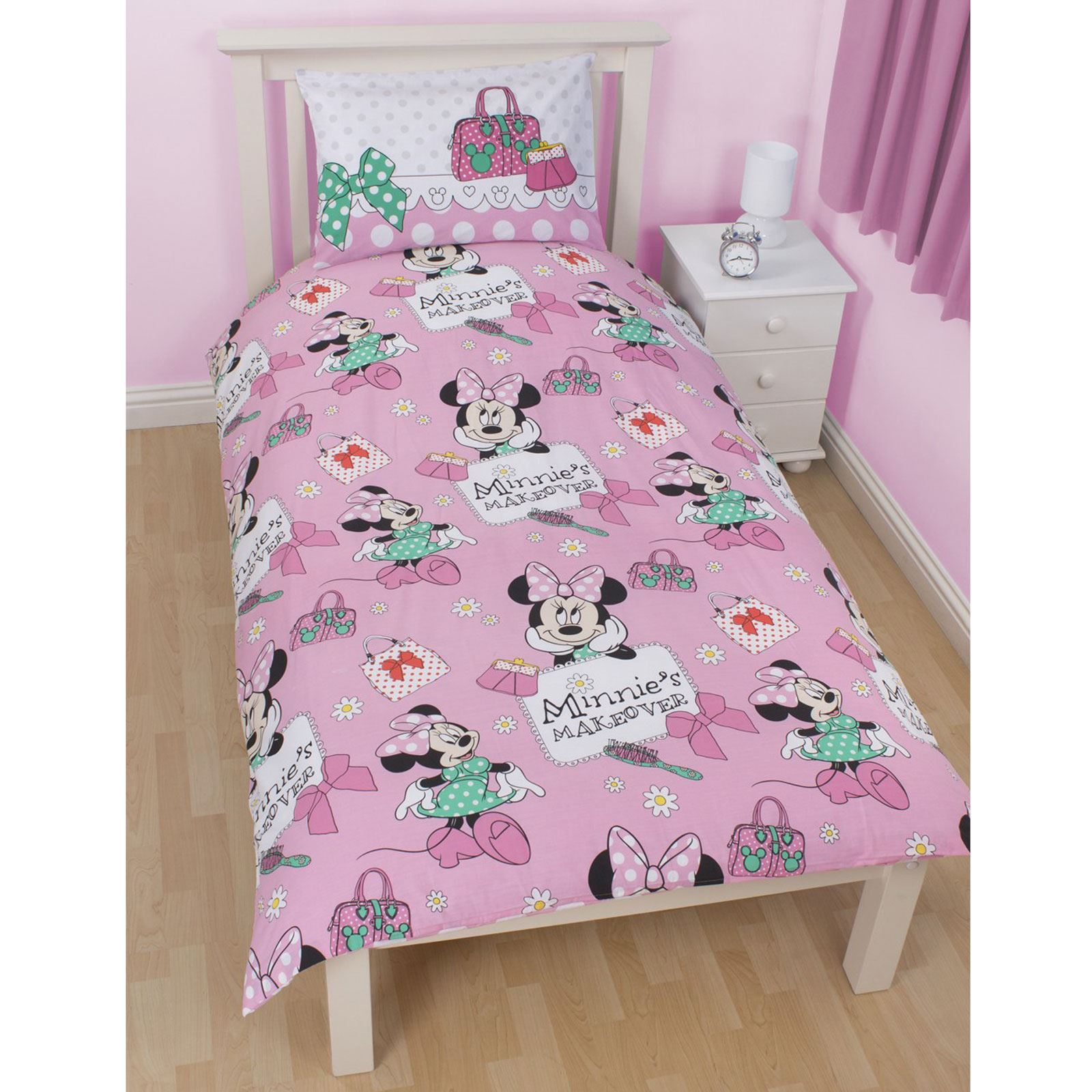 MINNIE-MOUSE-DUVET-COVERS-KIDS-GIRLS-BEDDING-SINGLE-DOUBLE-JUNIOR thumbnail 26