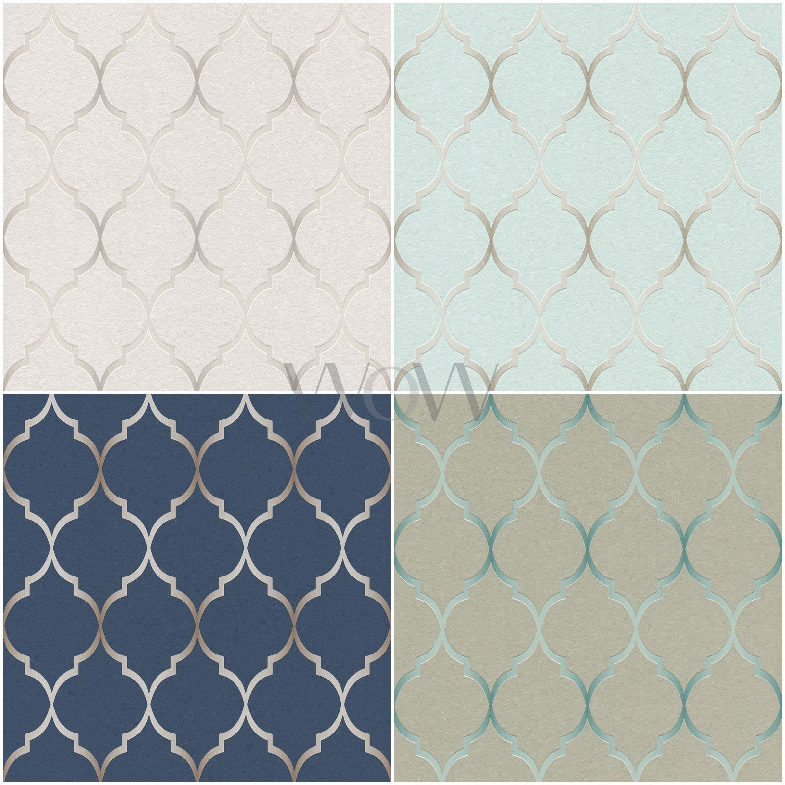 Rasch Fretwork Geometric Trellis Wallpaper Textured