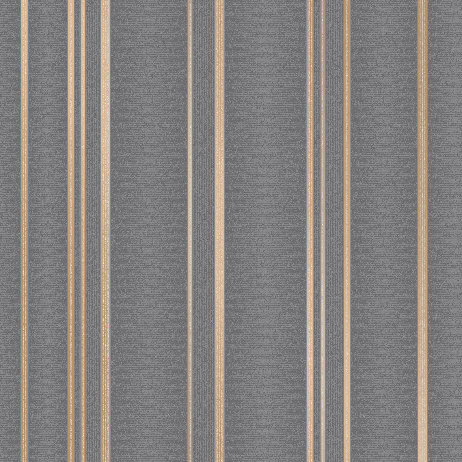 FINE DECOR FD42350 GLITTER PULSE STAR GEO WALLPAPER CHARCOAL COPPPER