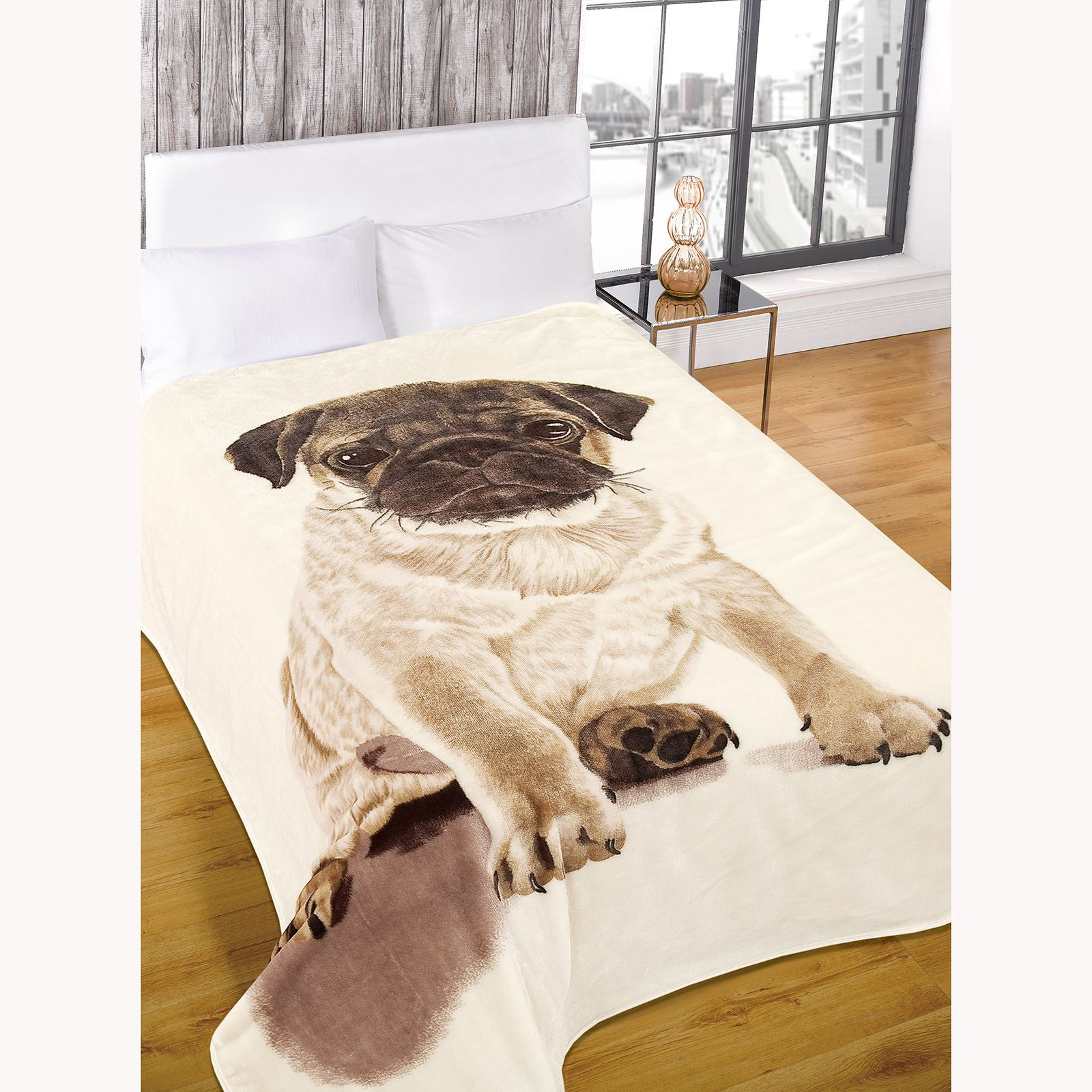 Details about ADULT THROW BLANKETS FAUX FUR PUG AND VOLKSWAGEN RETRO  CAMPERVAN SUPER SOFT NEW 4dedaf7be