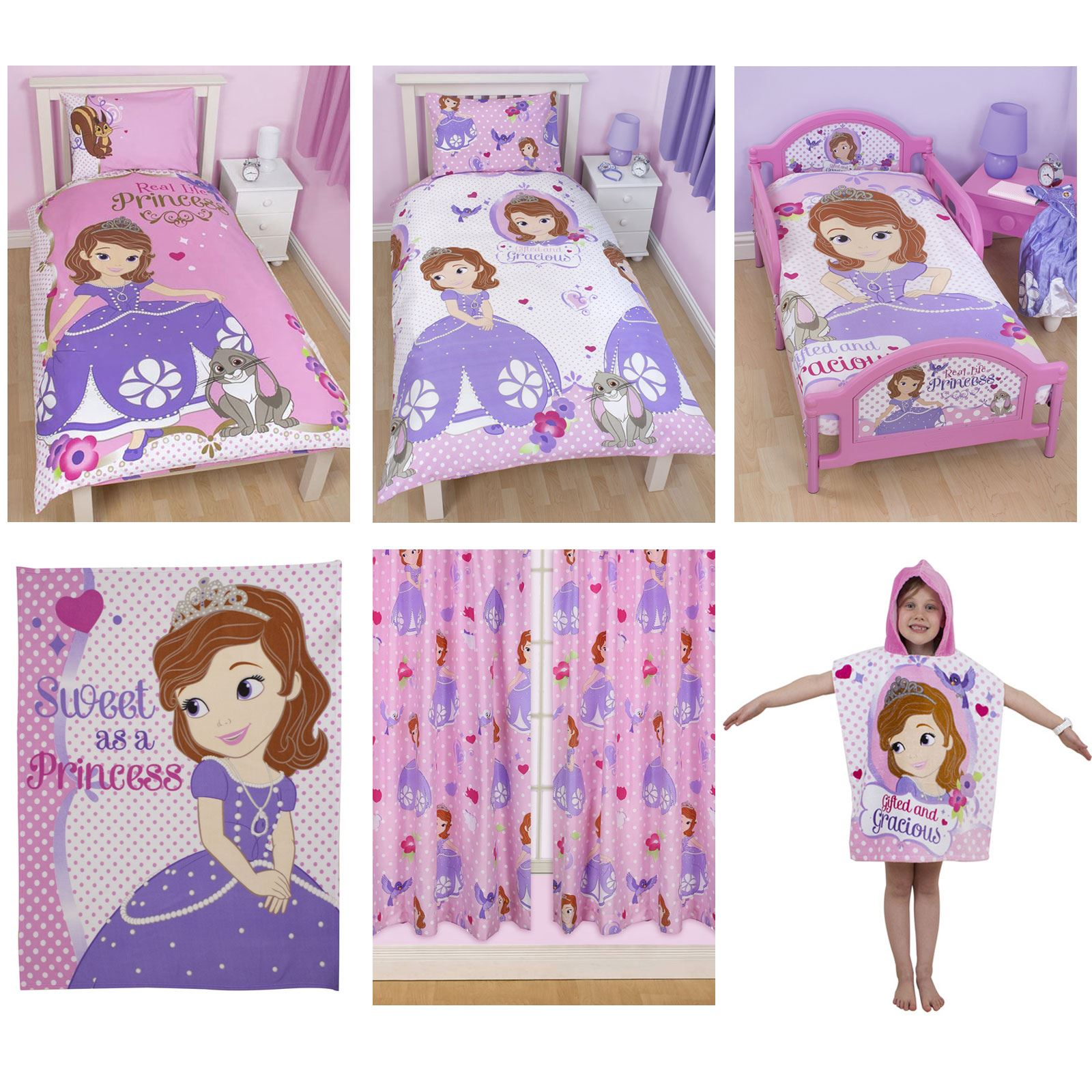 DISNEY SOFIA THE FIRST BEDDING SINGLE DOUBLE U0026 JUNIOR DUVET COVER SETS  BEDROOM