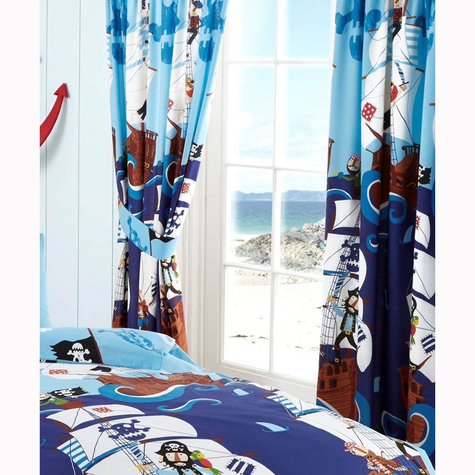 """Dinosaur World 66 X 54 Lined Curtains Tie Backs: BOYS BEDROOM CURTAINS 66"""" X 72"""" IN VARIOUS DESIGNS FULLY"""