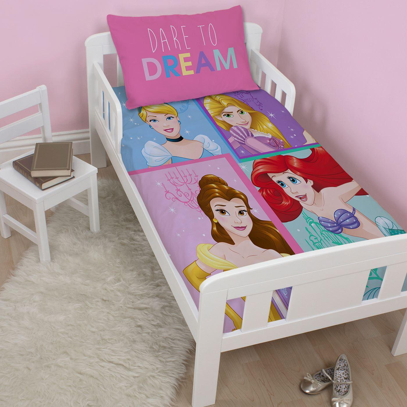 Disney-Princess-Sets-Housse-de-couette-LITERIE-Simple-double-amp-tailles-Junior