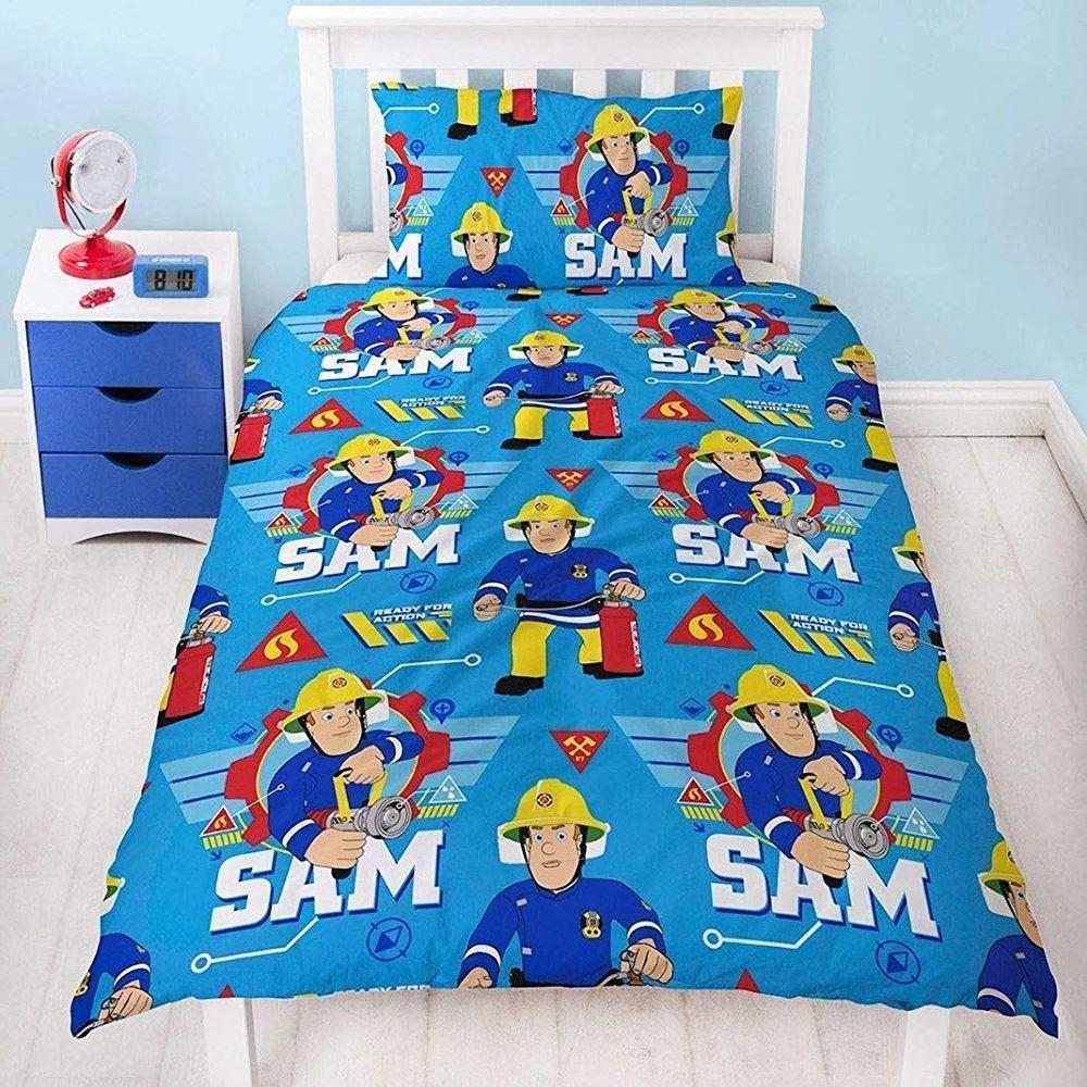 Fireman Sam Cool Single Duvet Cover Set Reversible Kids