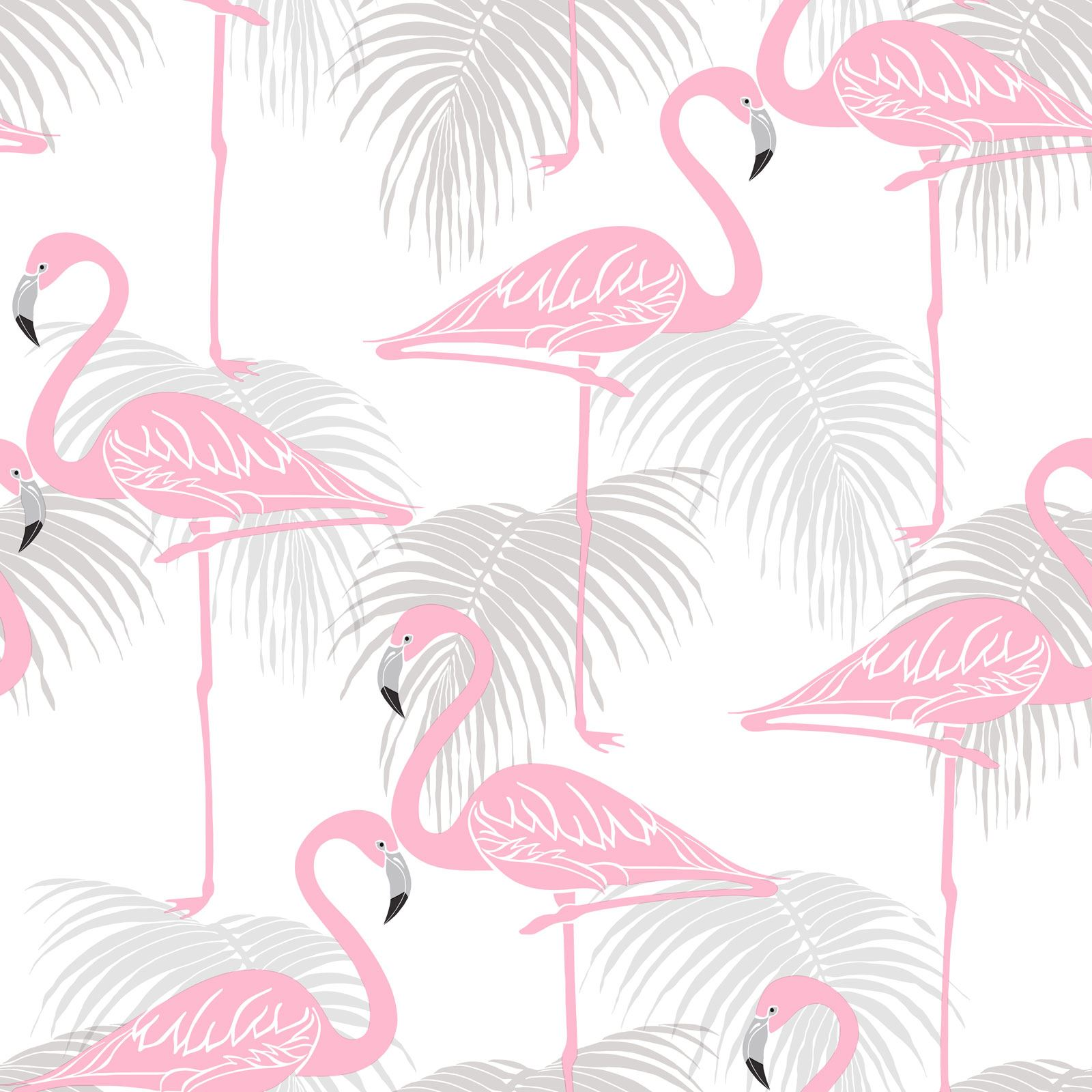 Glitter Flamingo WallpaperCoral SilverKids Bedroom Arthouse 674700